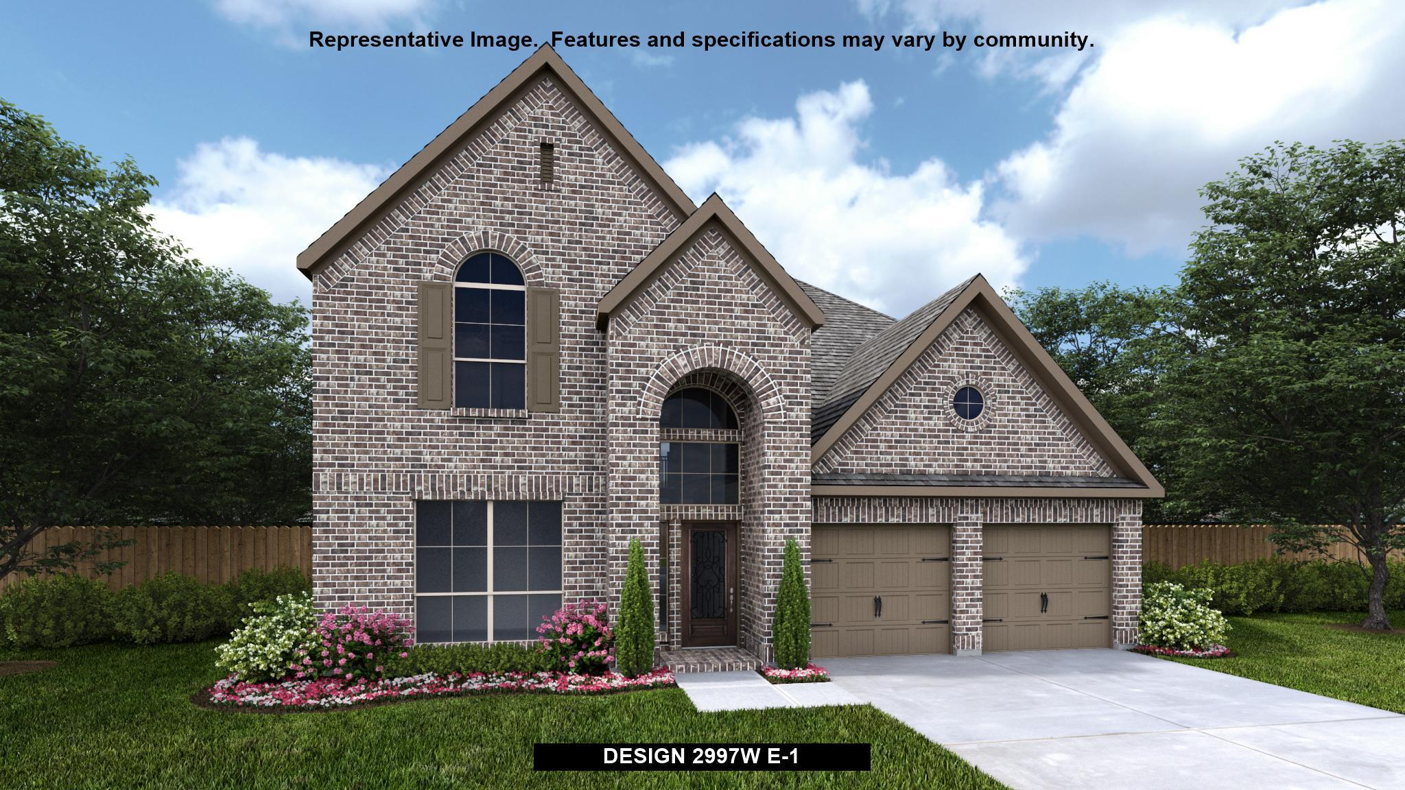 Exterior featured in the 2997W By Perry Homes in San Antonio, TX