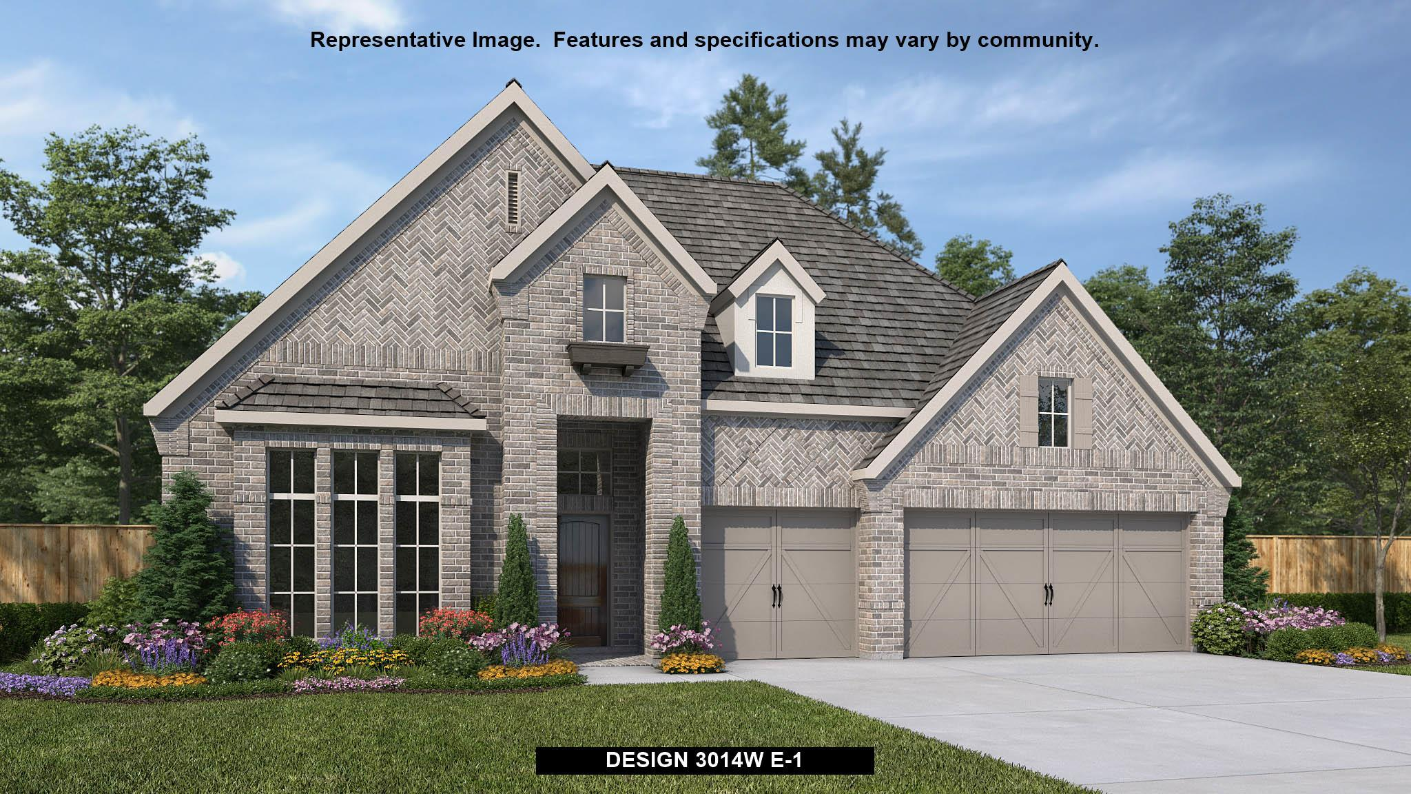 Exterior featured in the 3014W By Perry Homes in Houston, TX