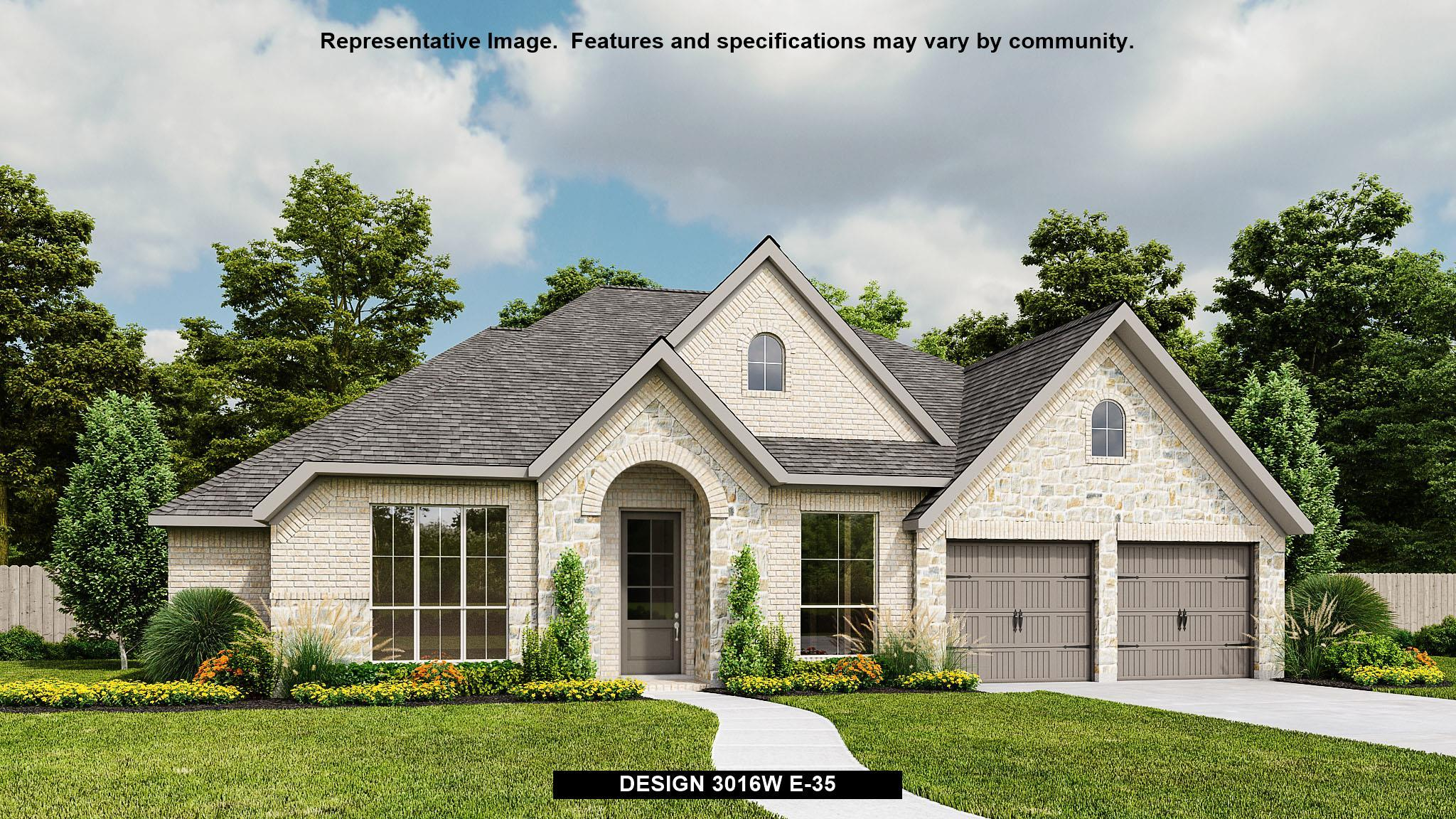 Exterior featured in the 3016W By Perry Homes in San Antonio, TX