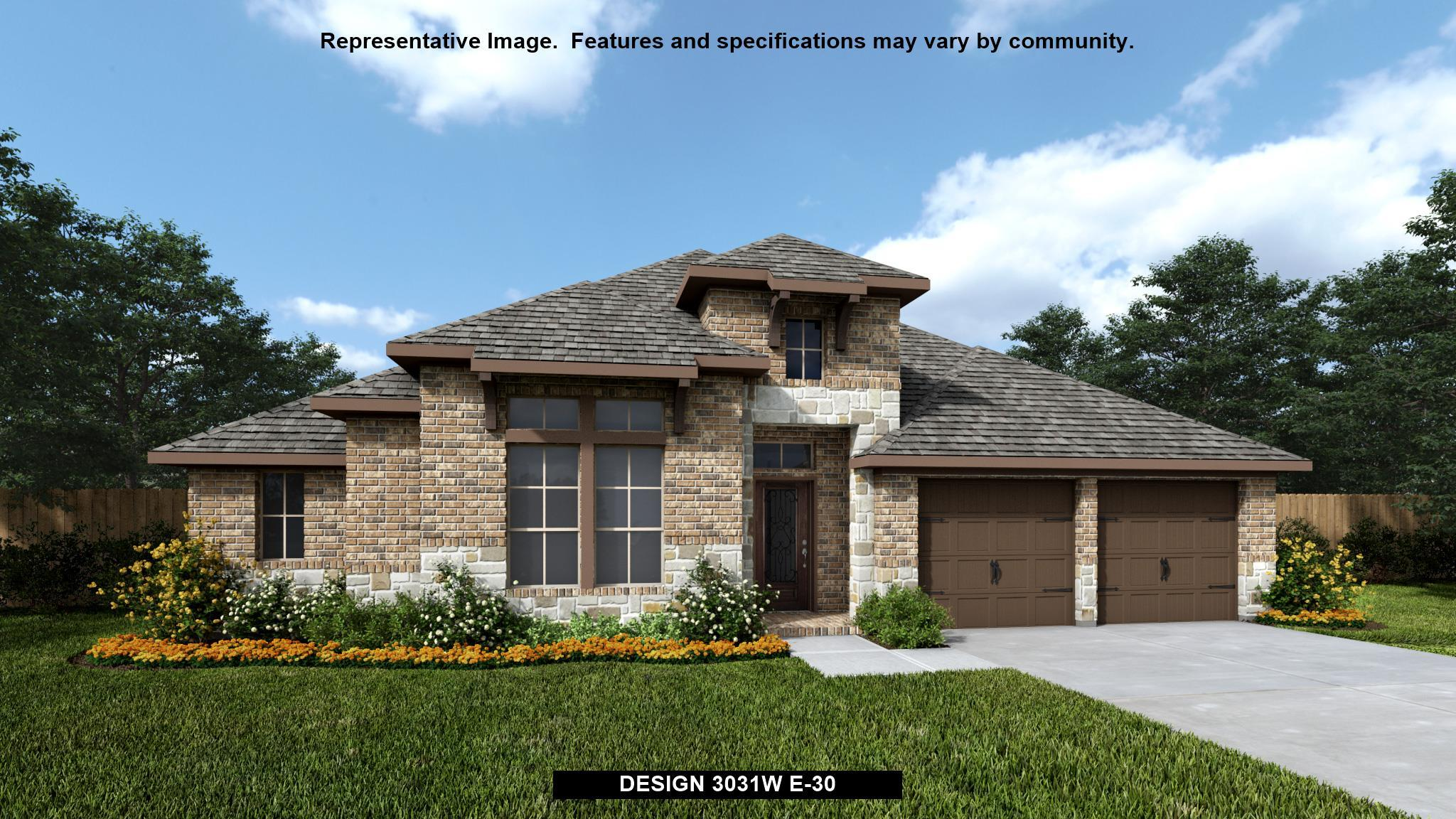 Exterior featured in the 3031W By Perry Homes in San Antonio, TX