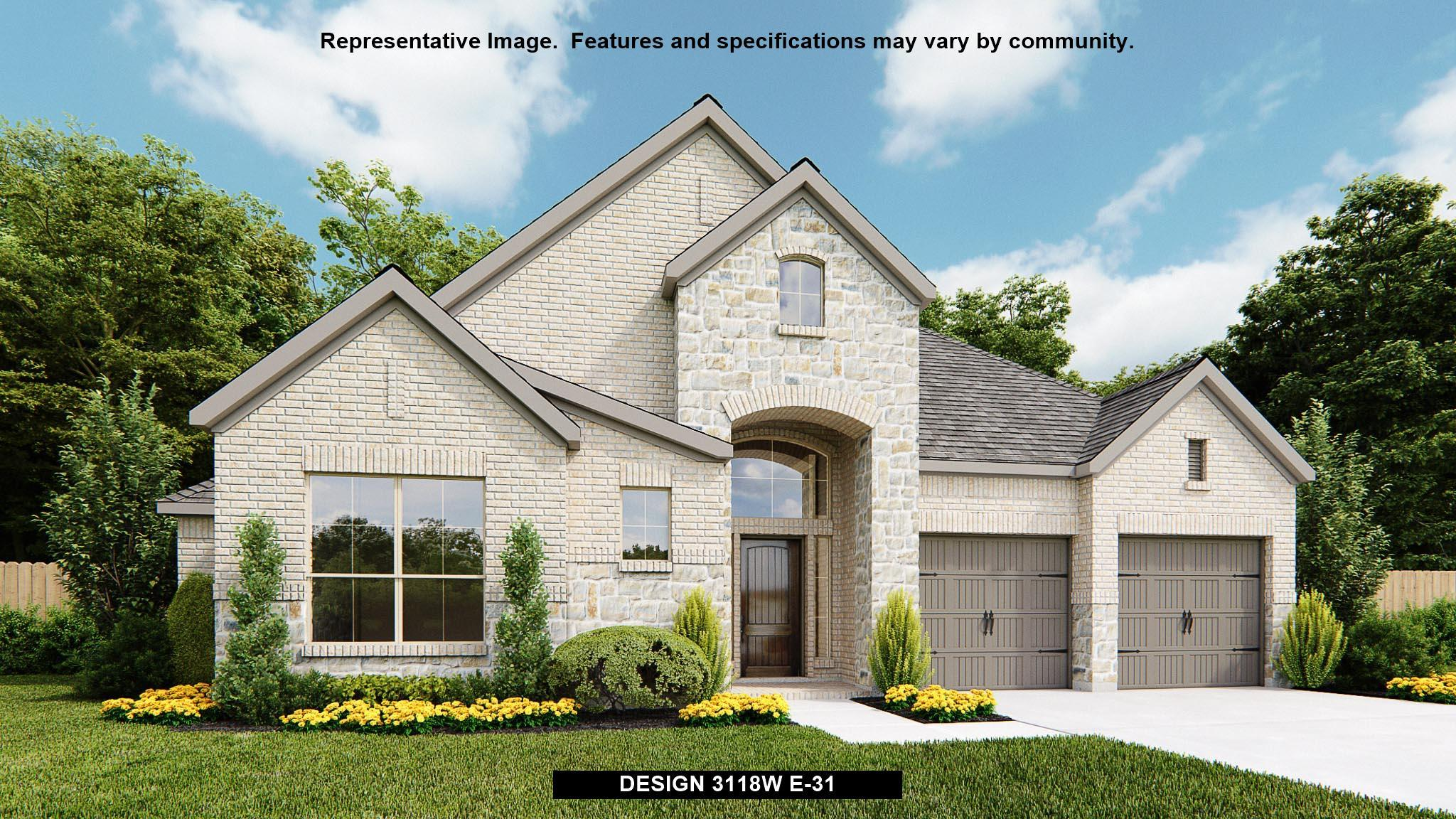 Exterior featured in the 3118W By Perry Homes in Houston, TX