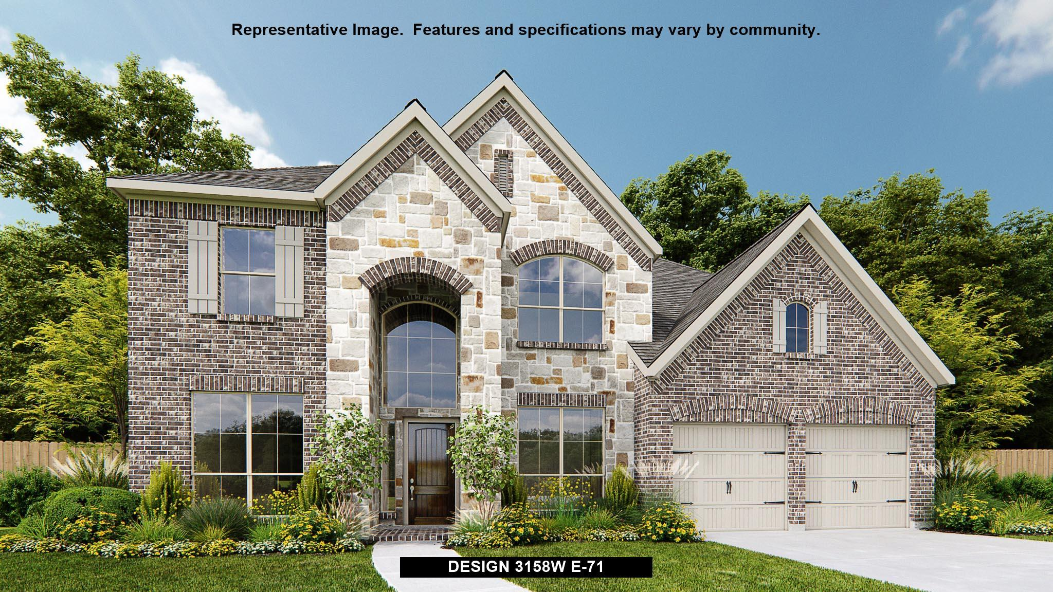 Exterior featured in the 3158W By Perry Homes in San Antonio, TX