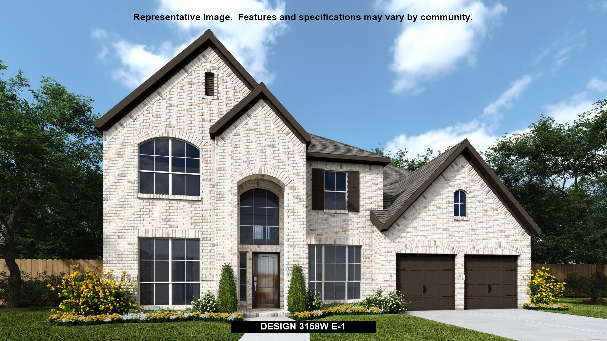 Exterior featured in the 3158W By Perry Homes in Dallas, TX
