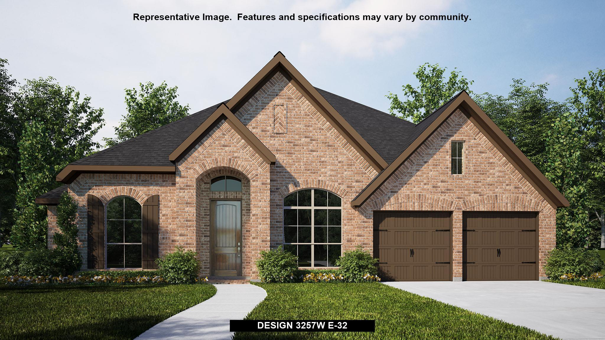 Exterior featured in the 3257W By Perry Homes in San Antonio, TX