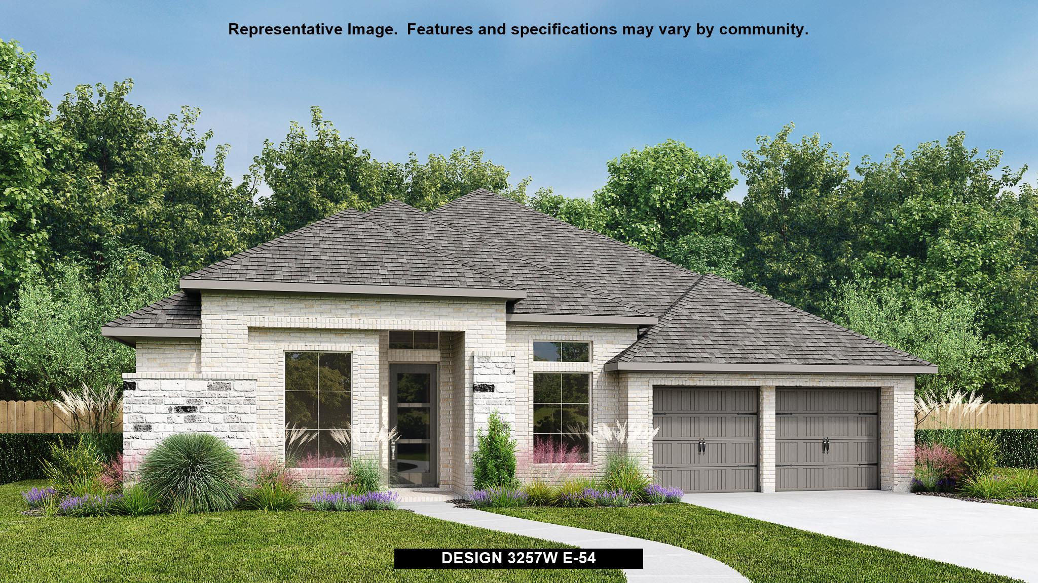 Exterior featured in the 3257W By Perry Homes in Houston, TX