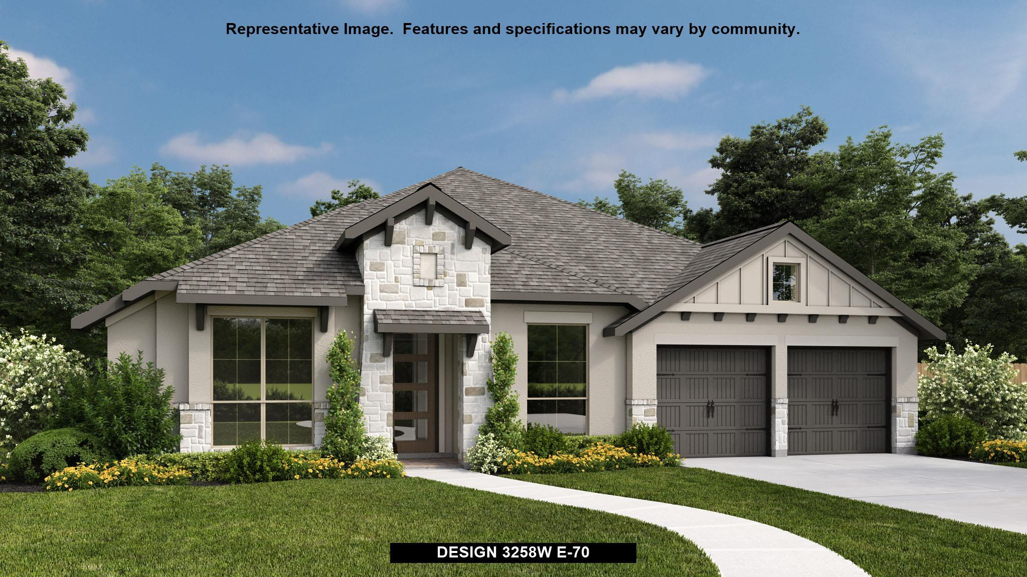 Exterior featured in the 3258W By Perry Homes in San Antonio, TX