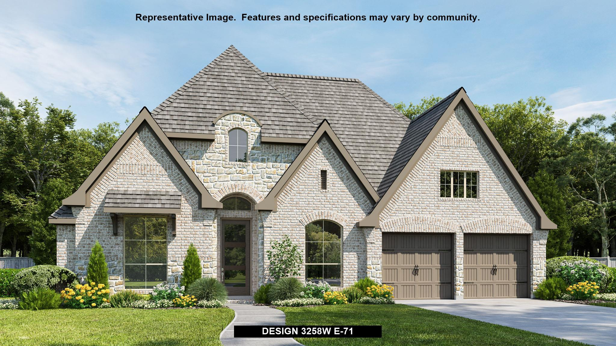 Exterior featured in the 3258W By Perry Homes in Dallas, TX