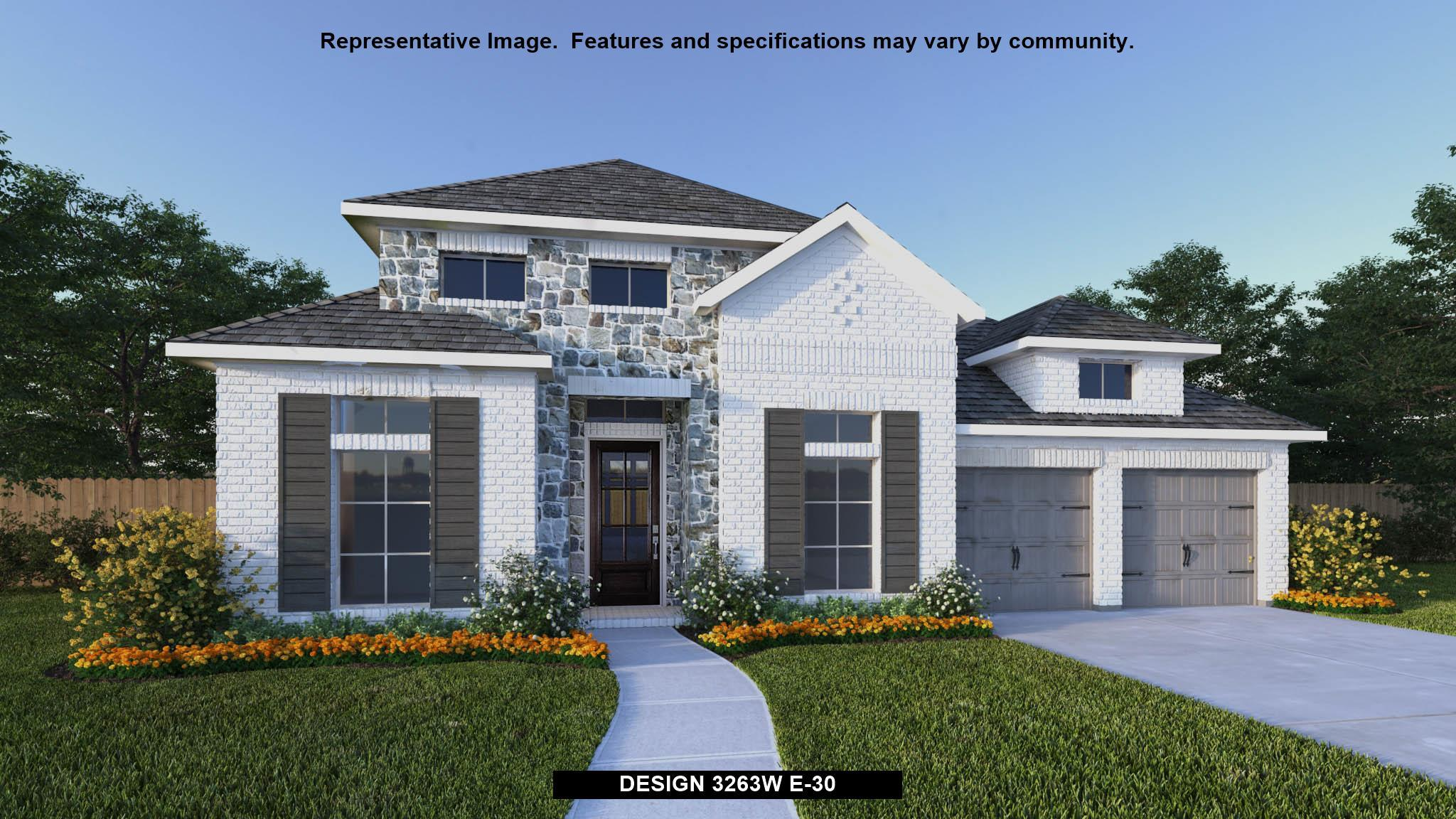 Exterior featured in the 3263W By Perry Homes in San Antonio, TX