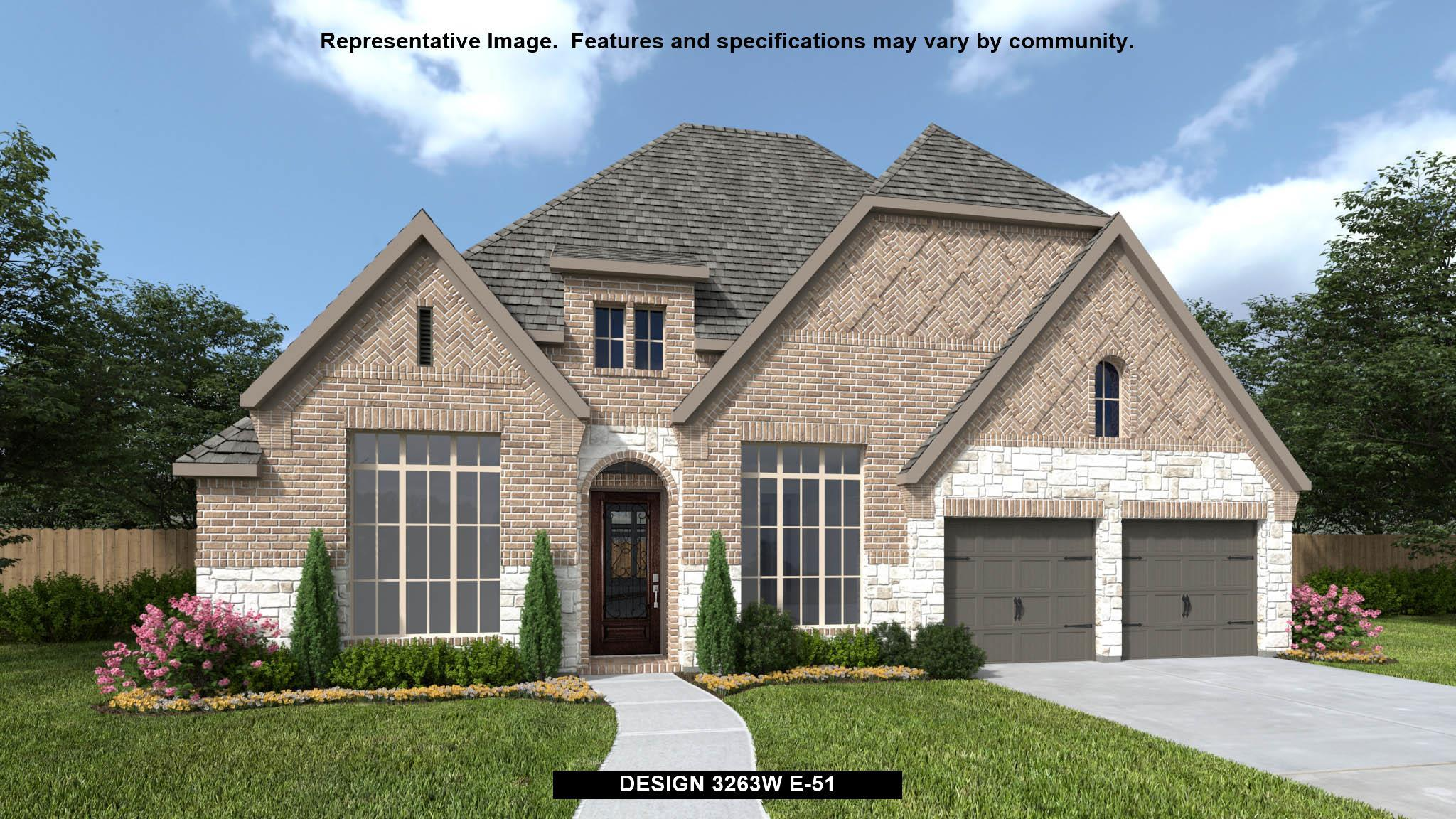 Exterior featured in the 3263W By Perry Homes in Houston, TX