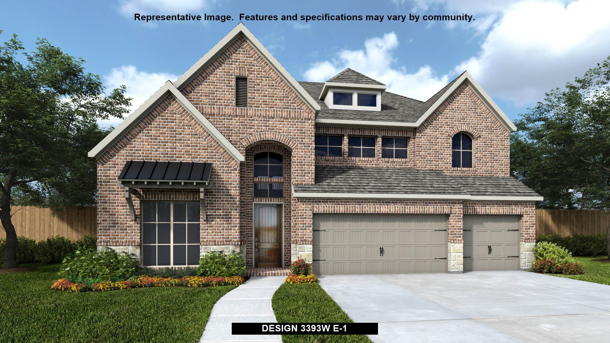 Exterior featured in the 3393W By Perry Homes in San Antonio, TX