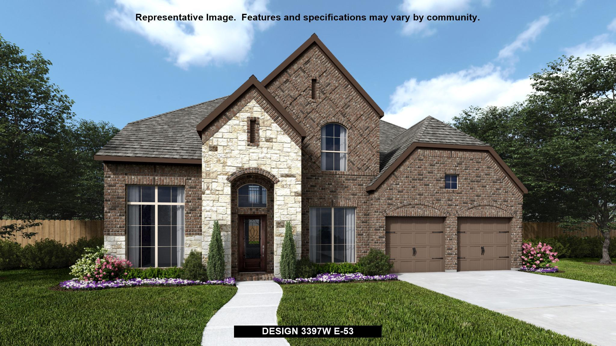 Exterior featured in the 3397W By Perry Homes in San Antonio, TX