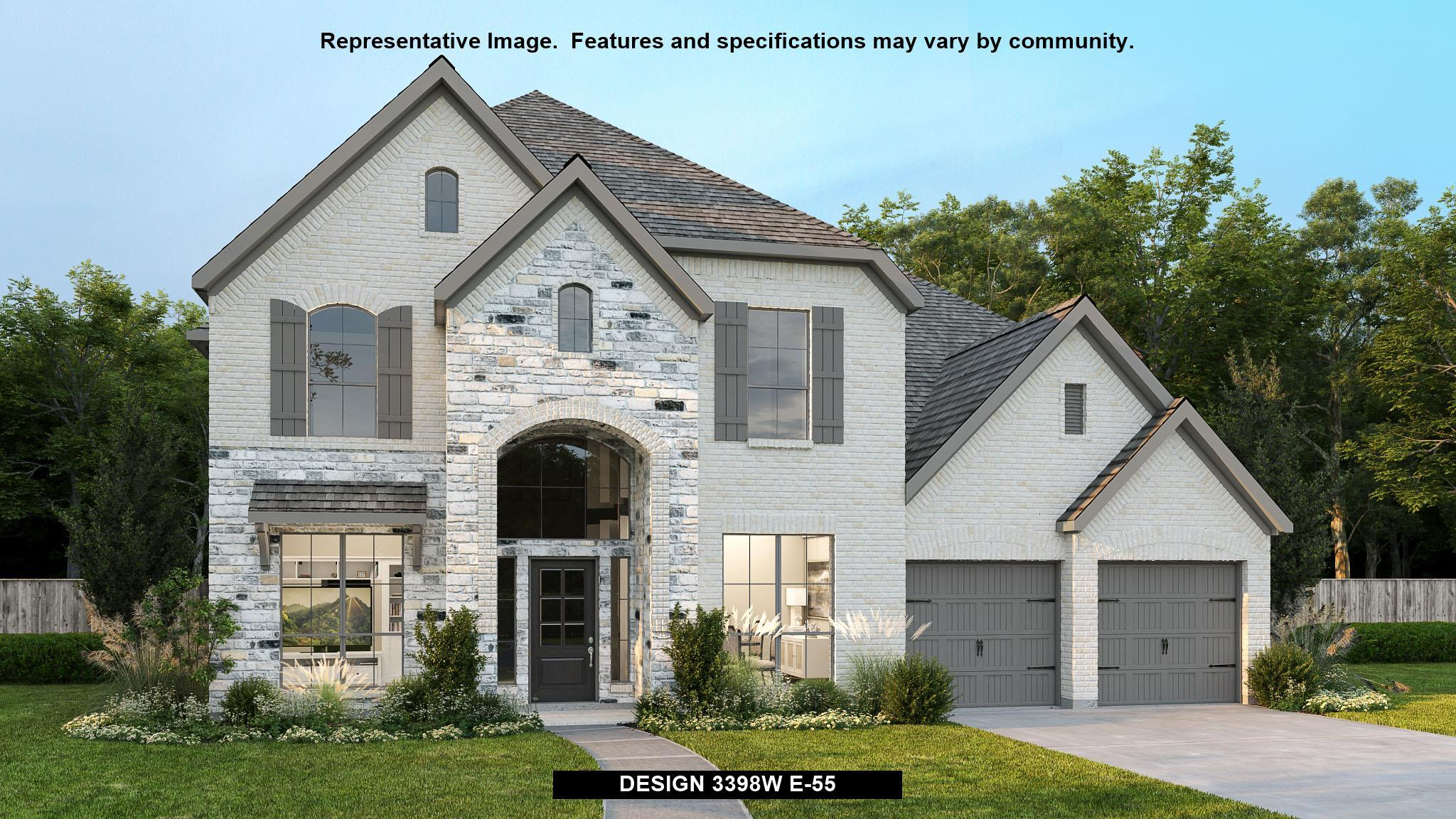 Exterior featured in the 3398W By Perry Homes in San Antonio, TX