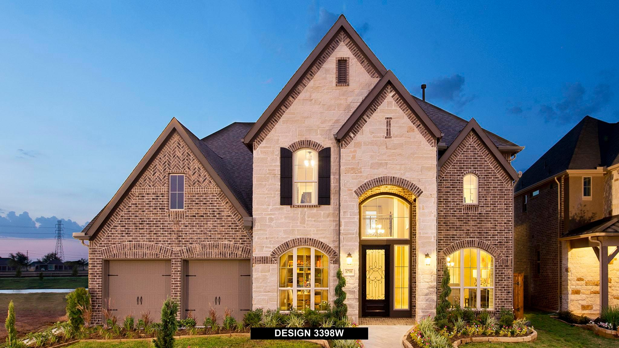 Exterior featured in the 3398W By Perry Homes in Houston, TX
