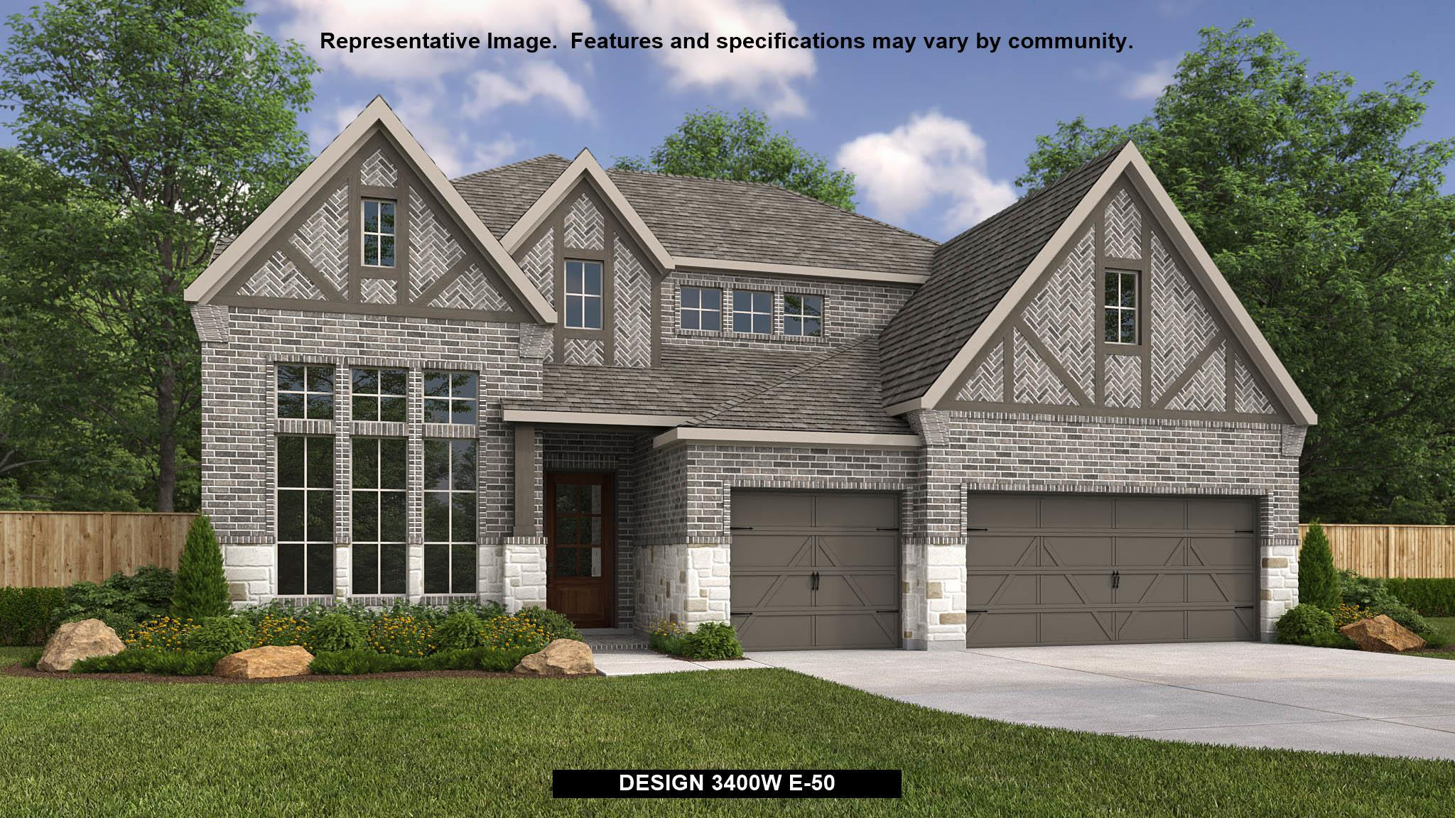 Exterior featured in the 3400W By Perry Homes in Houston, TX