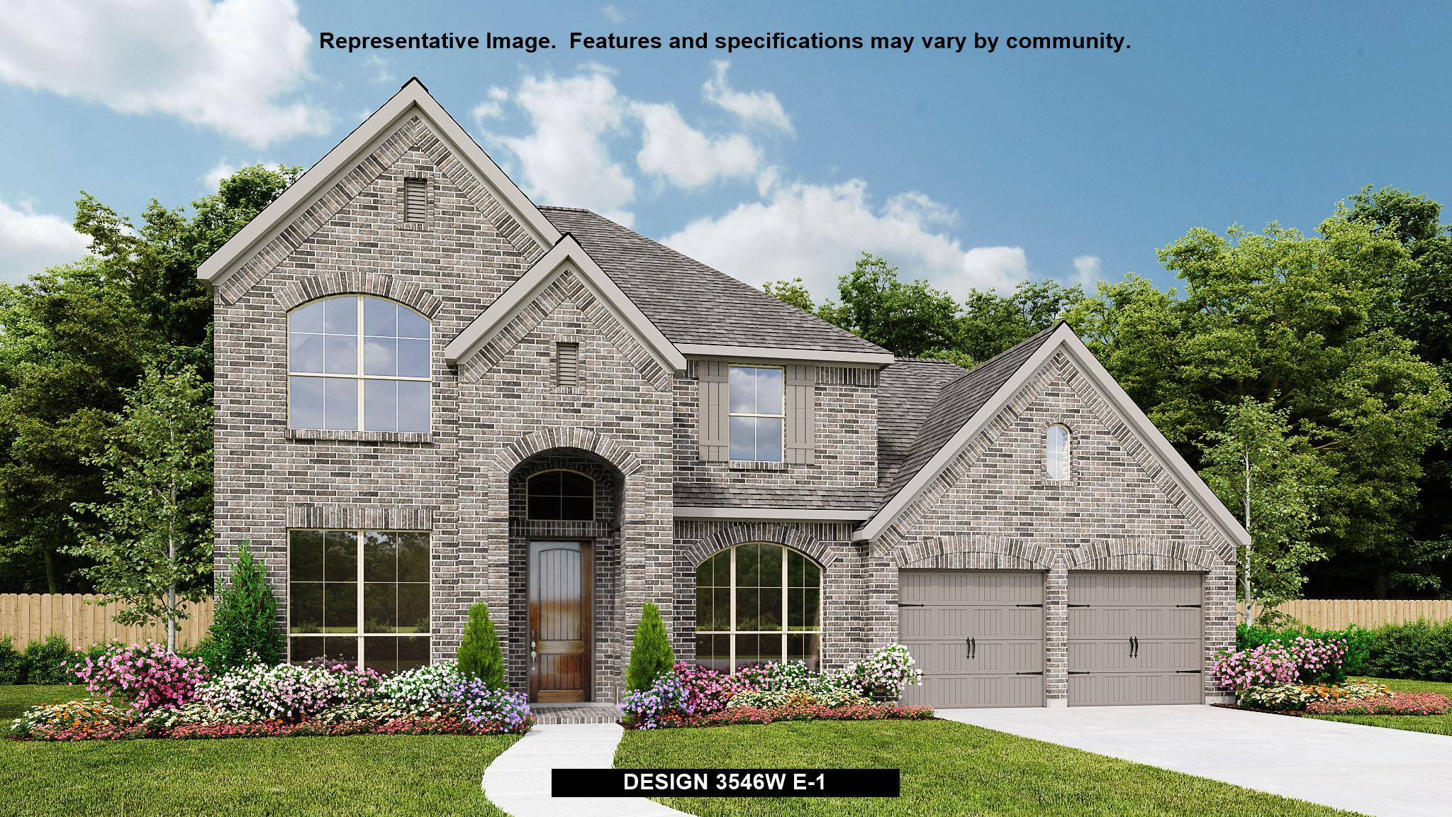 Exterior featured in the 3546W By Perry Homes in Houston, TX