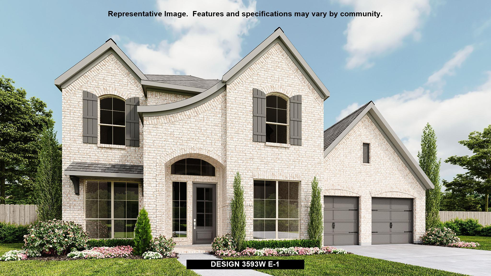 Exterior featured in the 3593W By Perry Homes in Houston, TX
