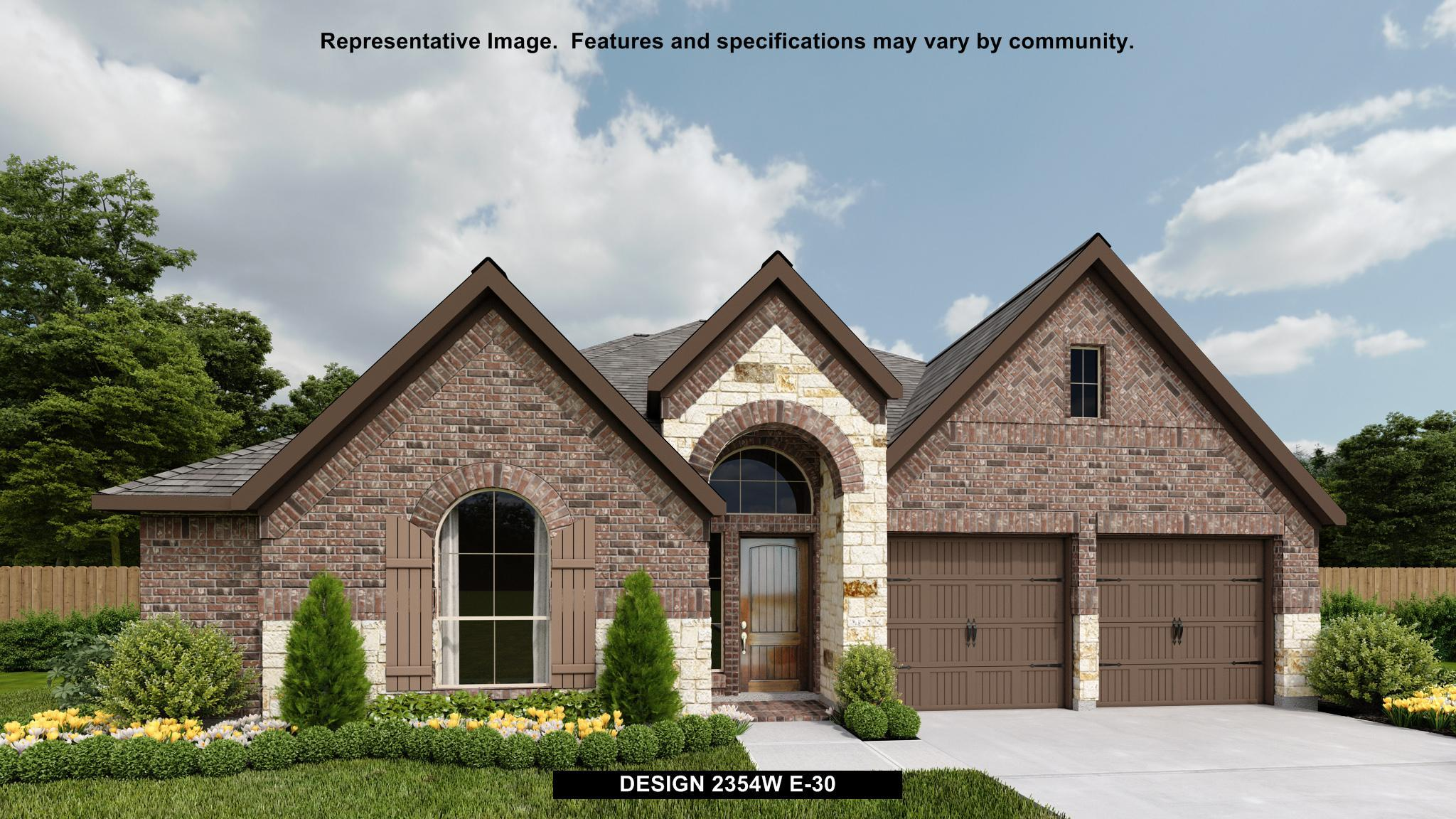 Exterior featured in the 2354W By Perry Homes in Houston, TX
