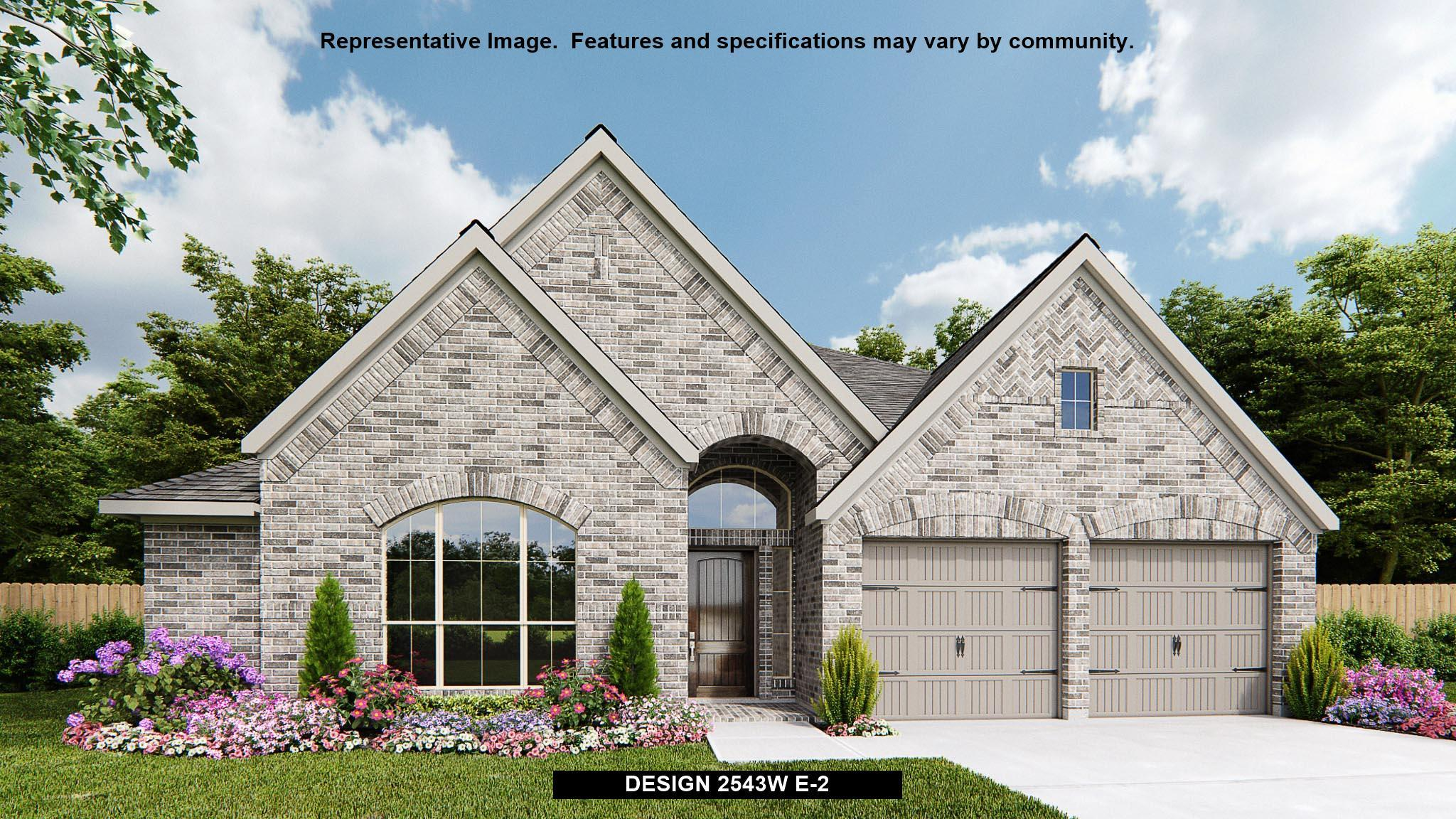 Exterior featured in the 2543W By Perry Homes in Dallas, TX