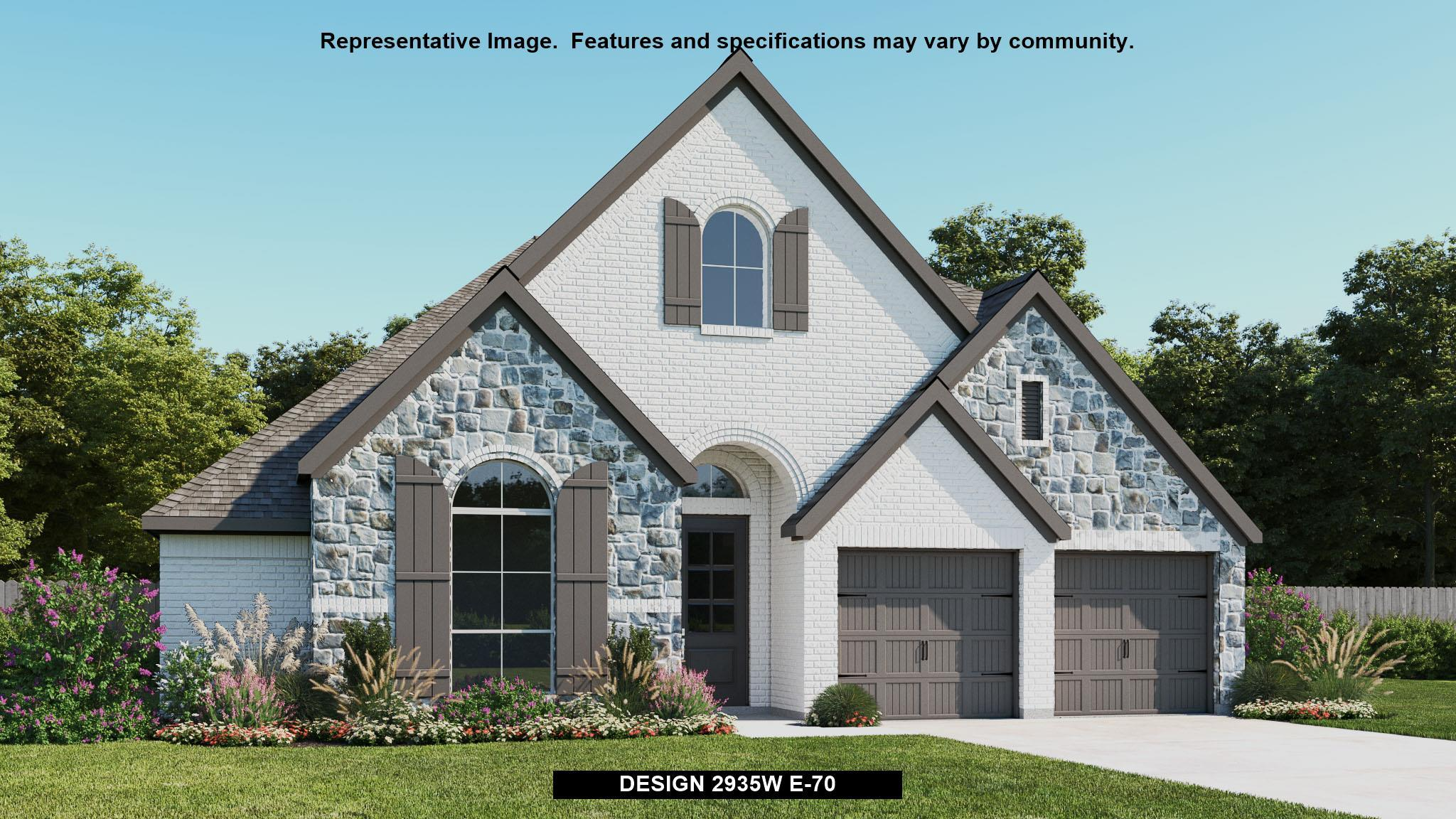 Exterior featured in the 2935W By Perry Homes in Austin, TX
