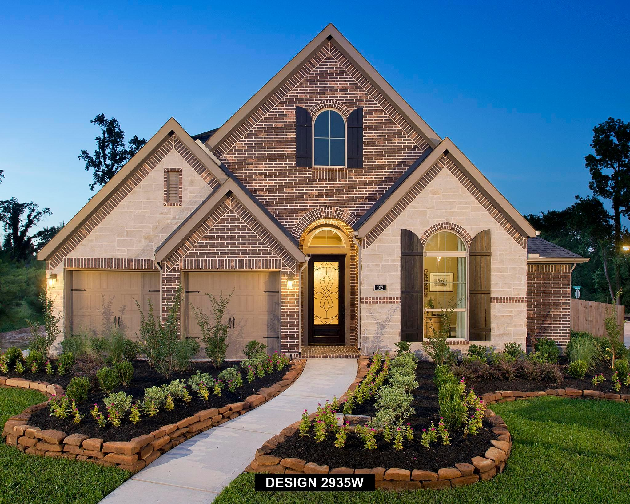 Exterior featured in the 2935W By Perry Homes in Houston, TX