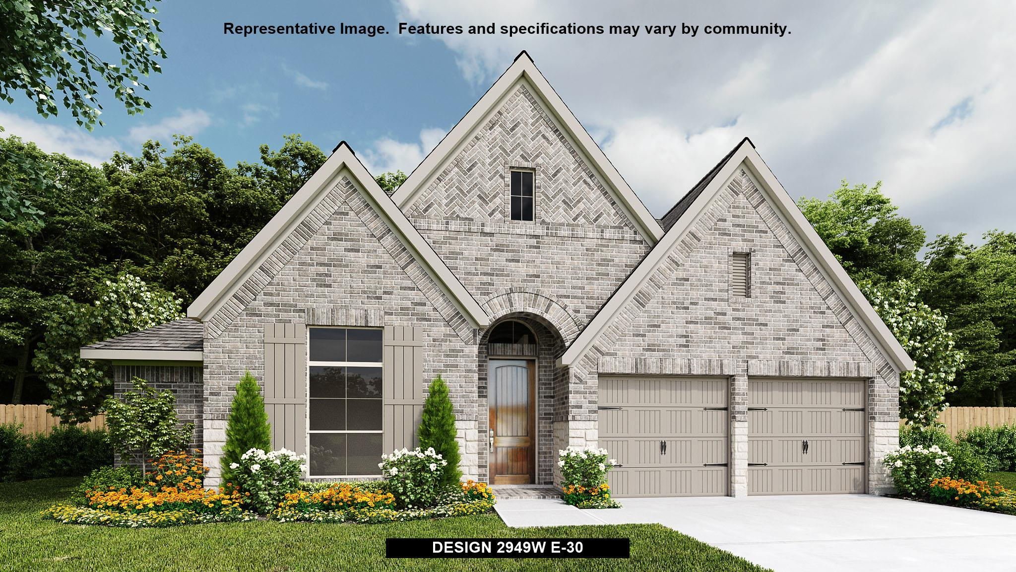 Exterior featured in the 2949W By Perry Homes in Houston, TX