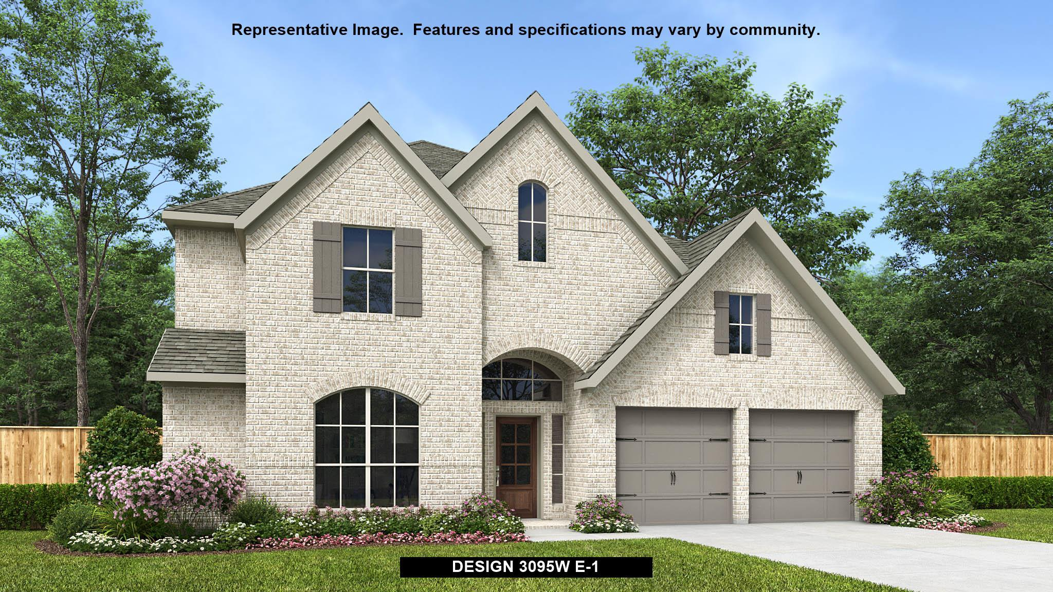 Exterior featured in the 3095W By Perry Homes in Houston, TX