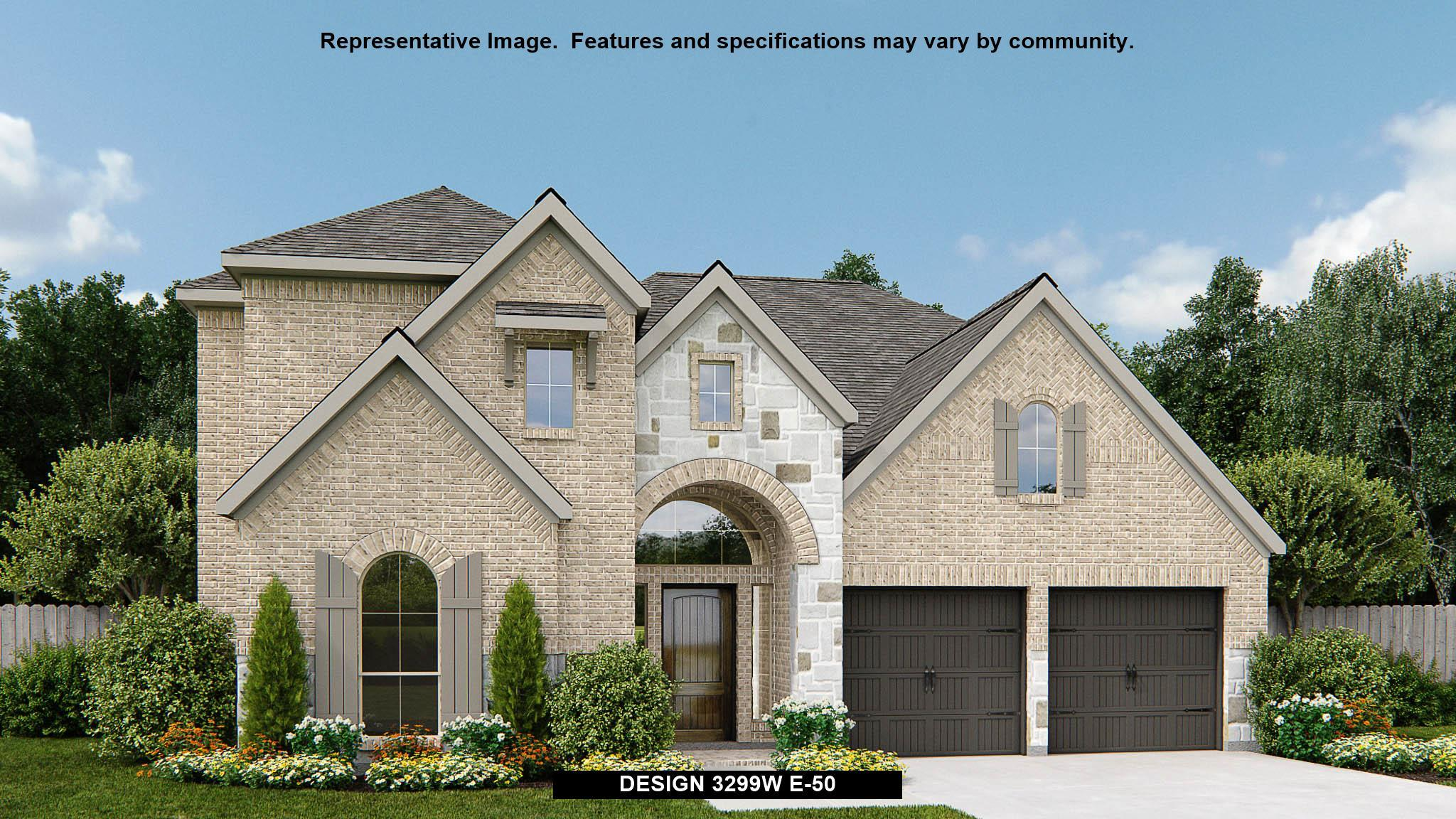 Exterior featured in the 3299W By Perry Homes in San Antonio, TX