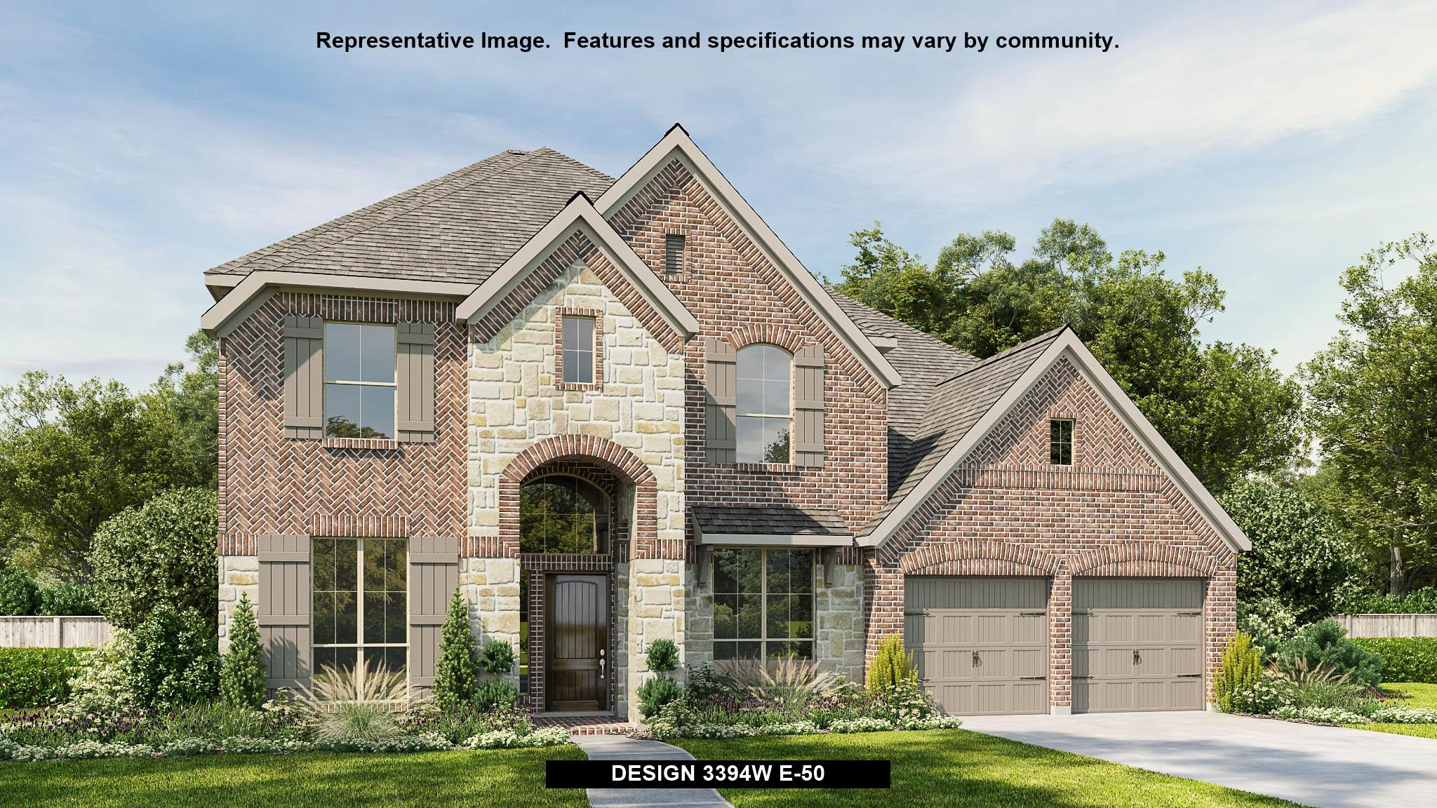 Exterior featured in the 3394W By Perry Homes in Houston, TX