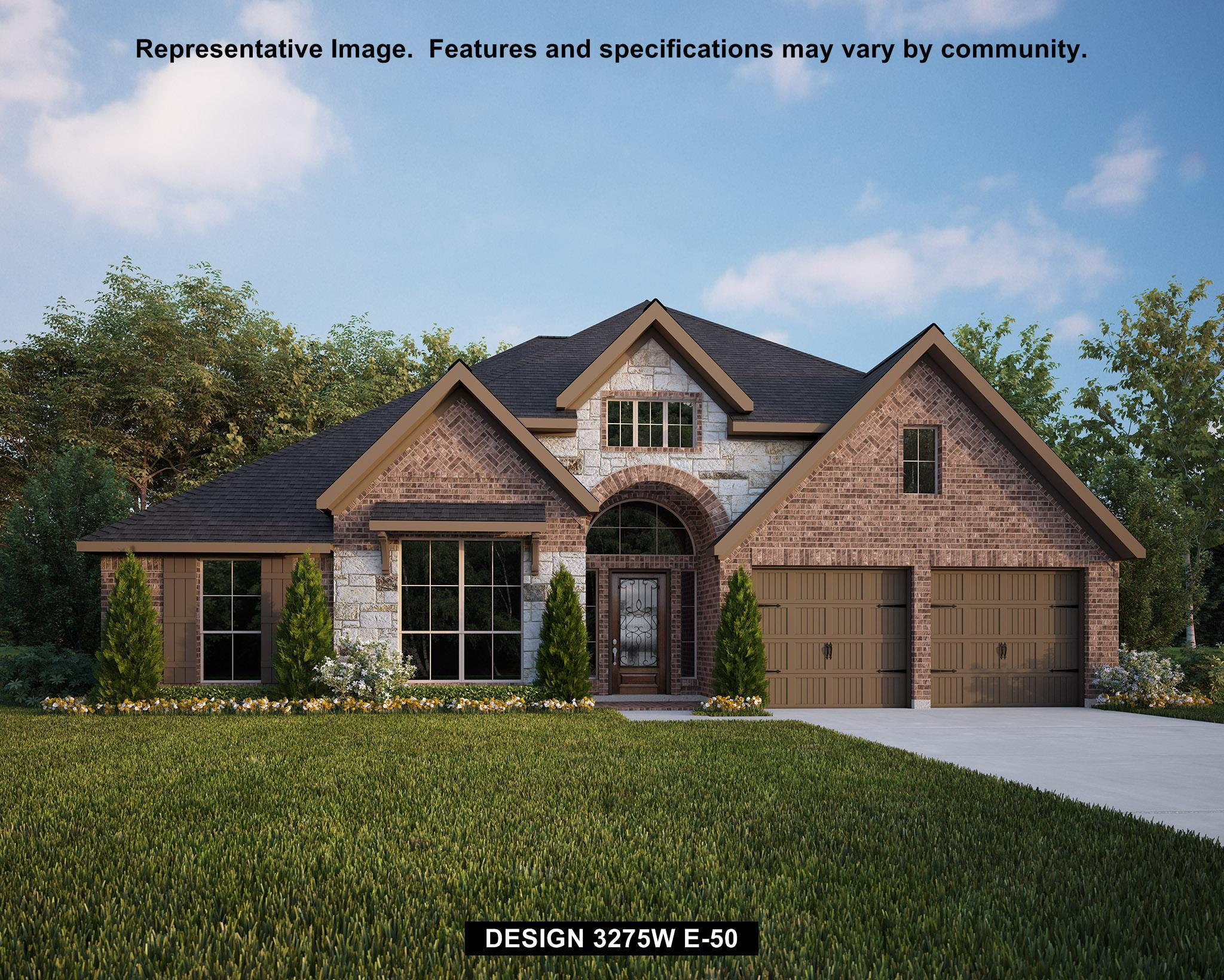 Exterior featured in the 3275W By Perry Homes in Houston, TX