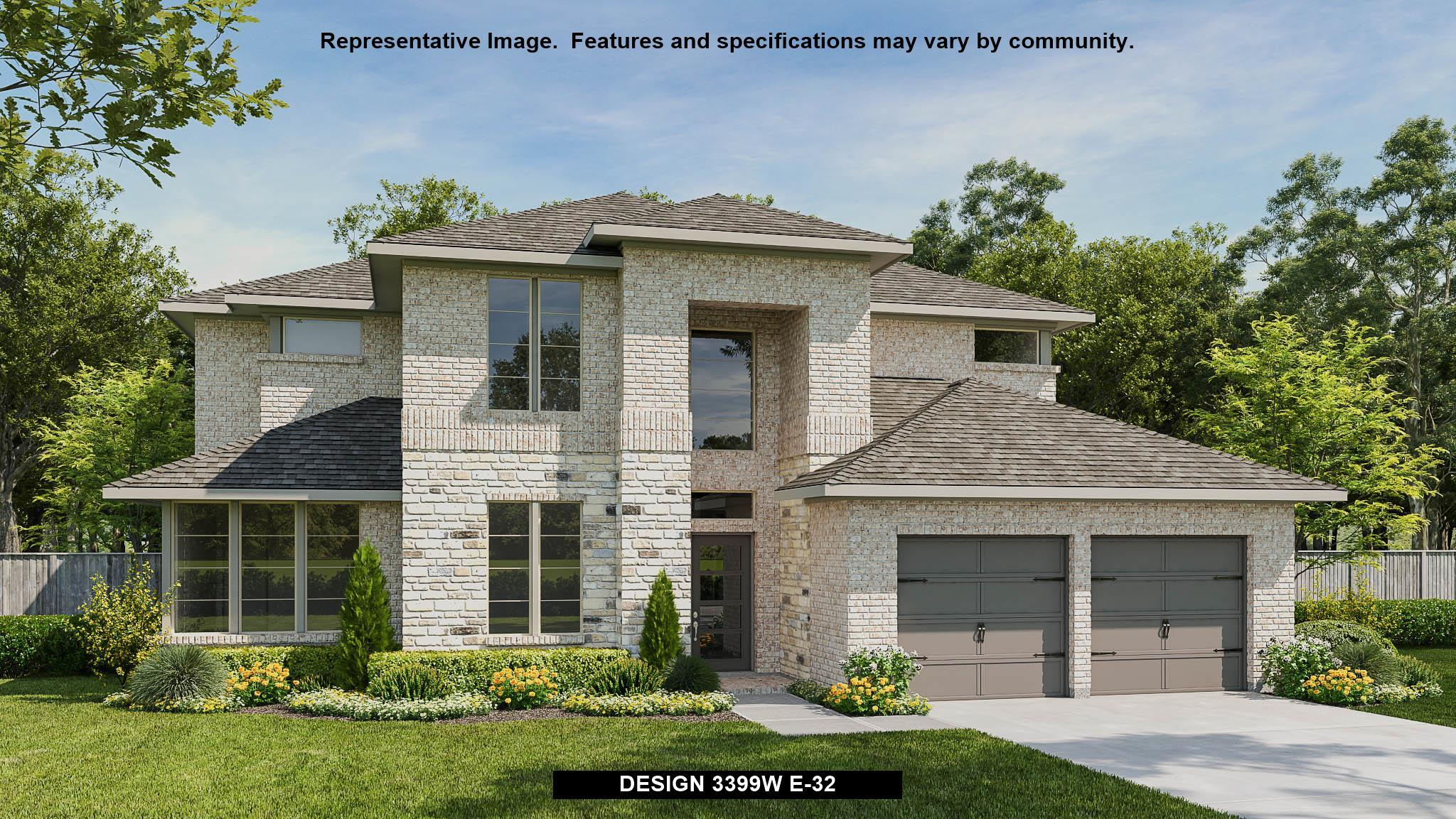Exterior featured in the 3399W By Perry Homes in Houston, TX