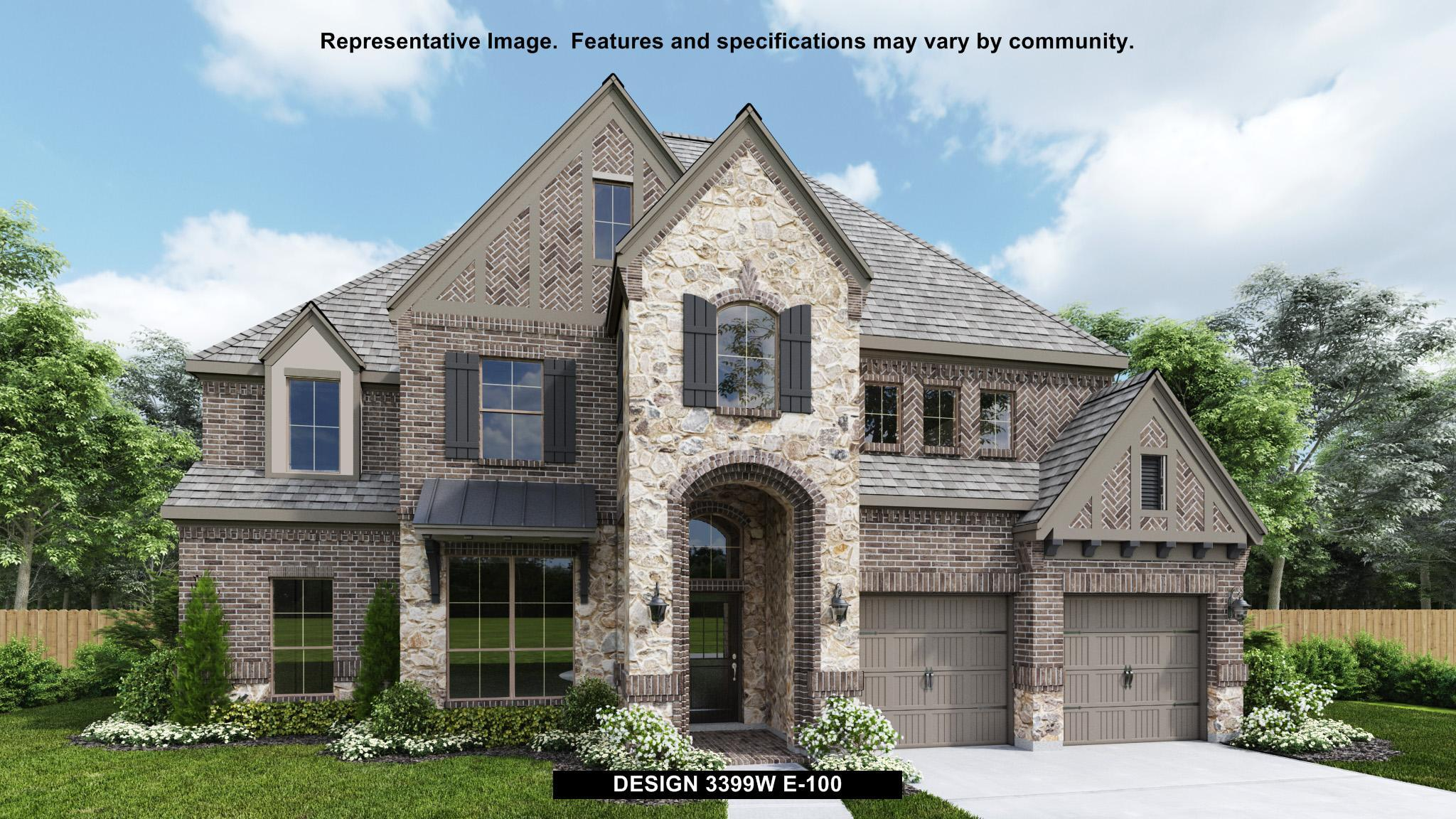 Exterior featured in the 3399W By Perry Homes in Dallas, TX