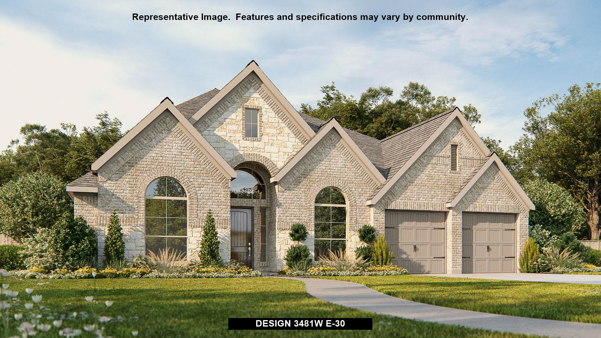 Exterior featured in the 3481W By Perry Homes in Houston, TX