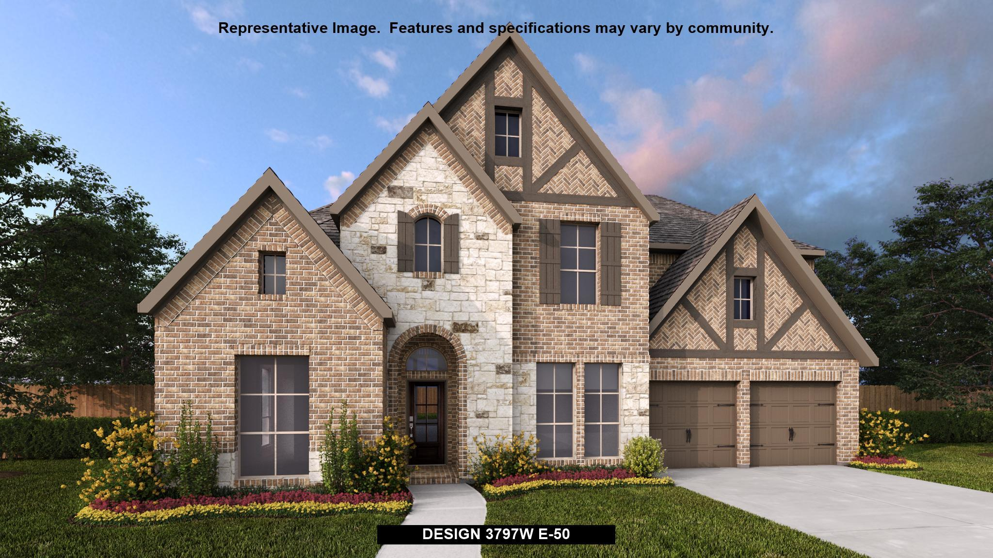 Exterior featured in the 3797W By Perry Homes in Houston, TX