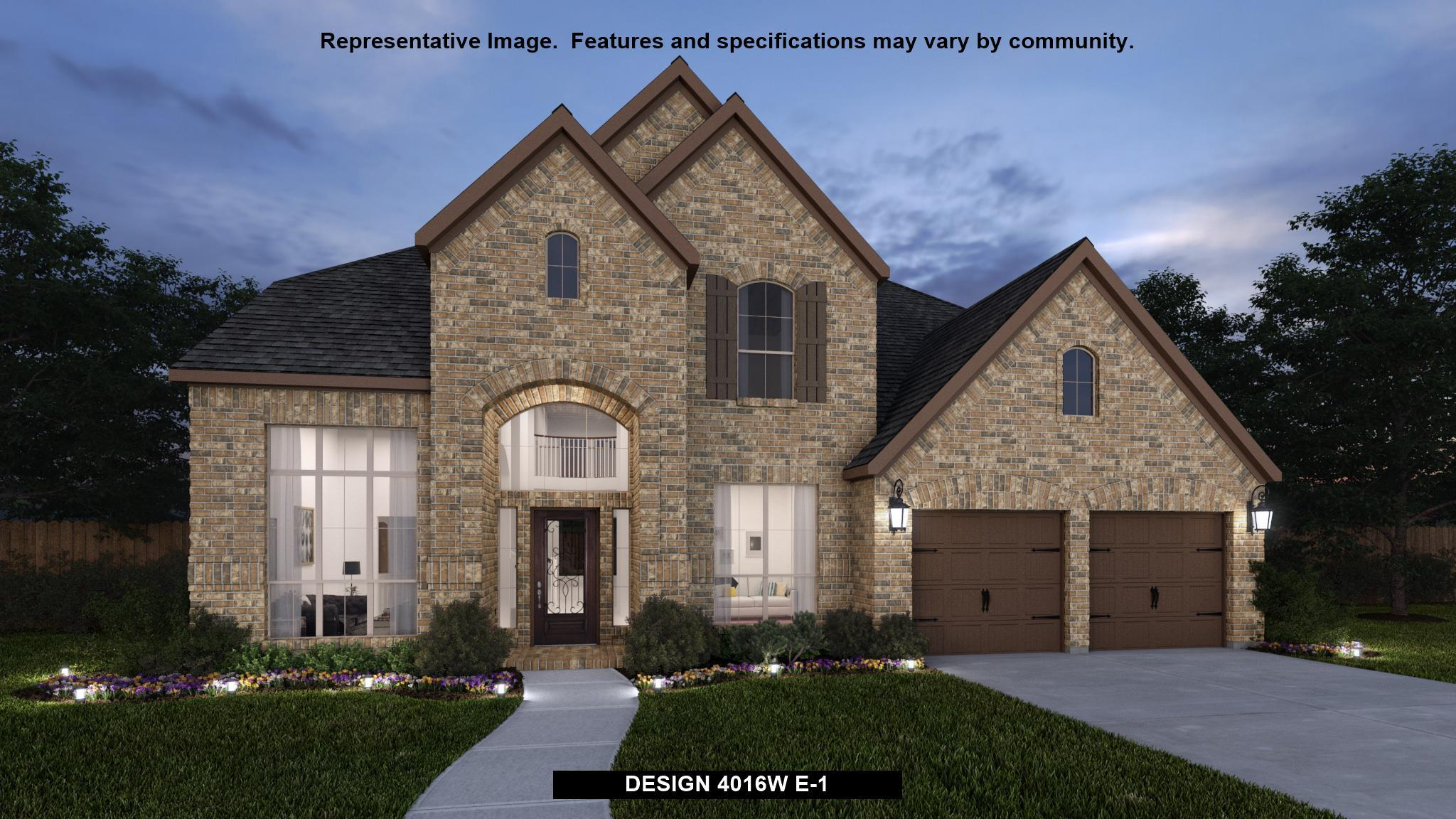 Exterior featured in the 4016W By Perry Homes in Houston, TX