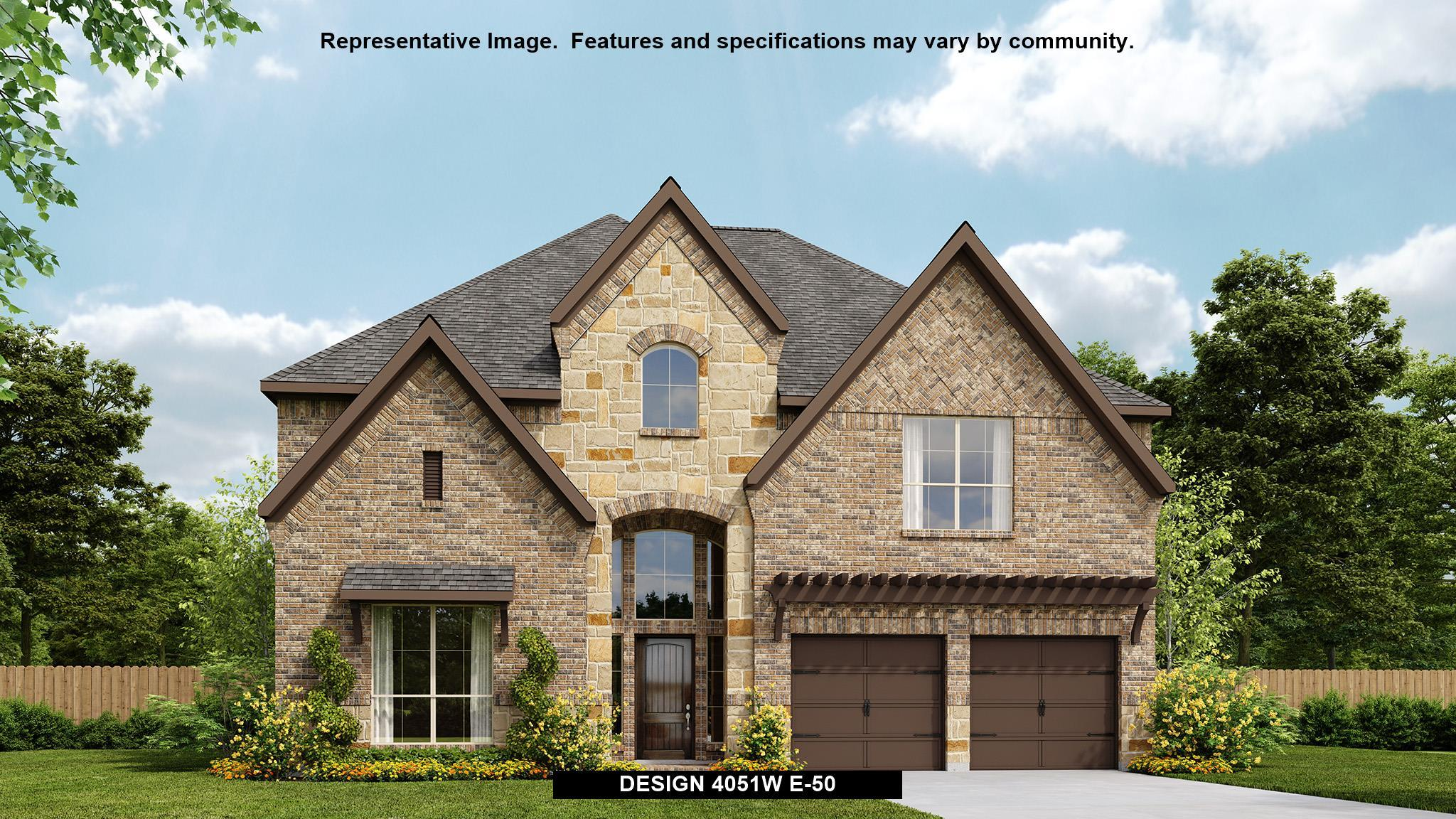 Exterior featured in the 4051W By Perry Homes in San Antonio, TX