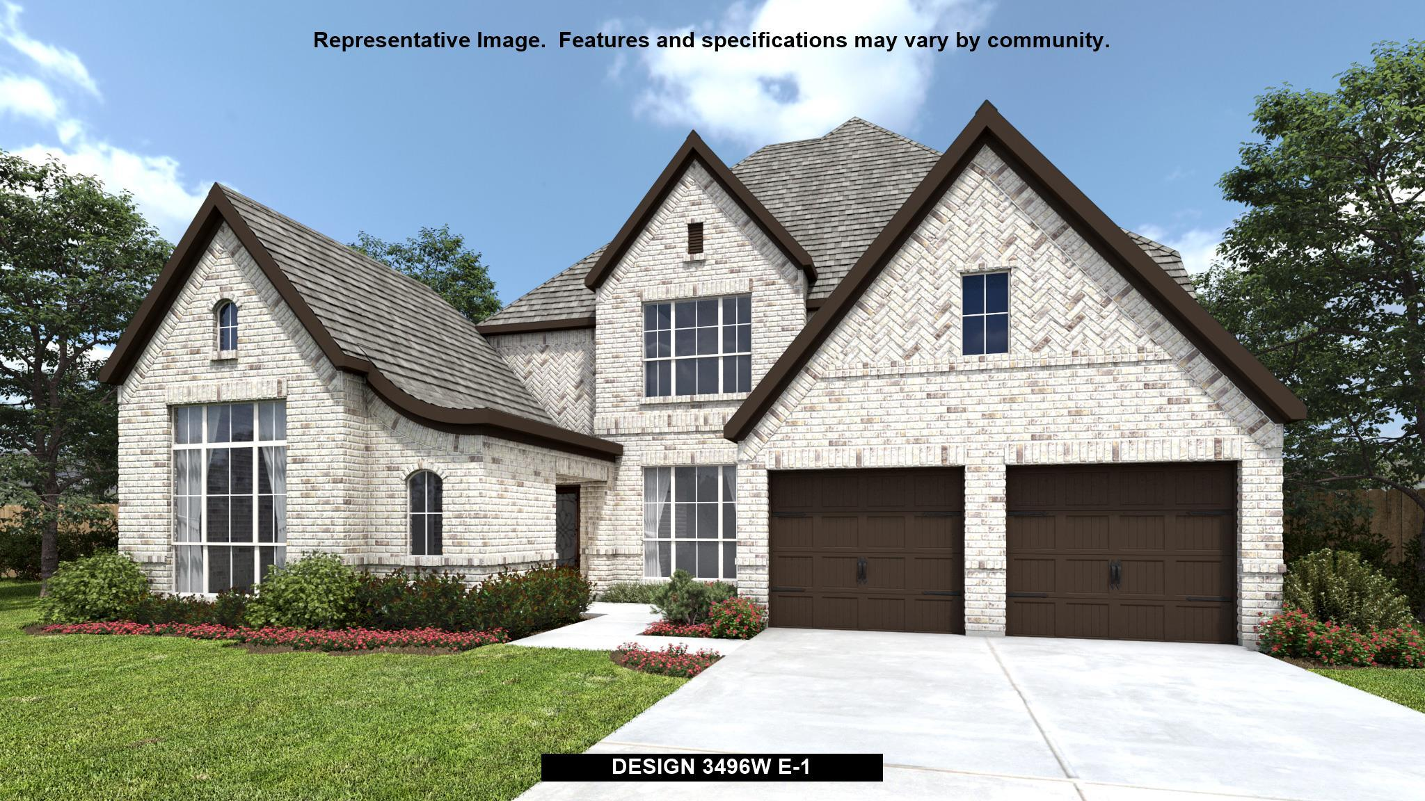 Exterior featured in the 3496W By Perry Homes in Houston, TX