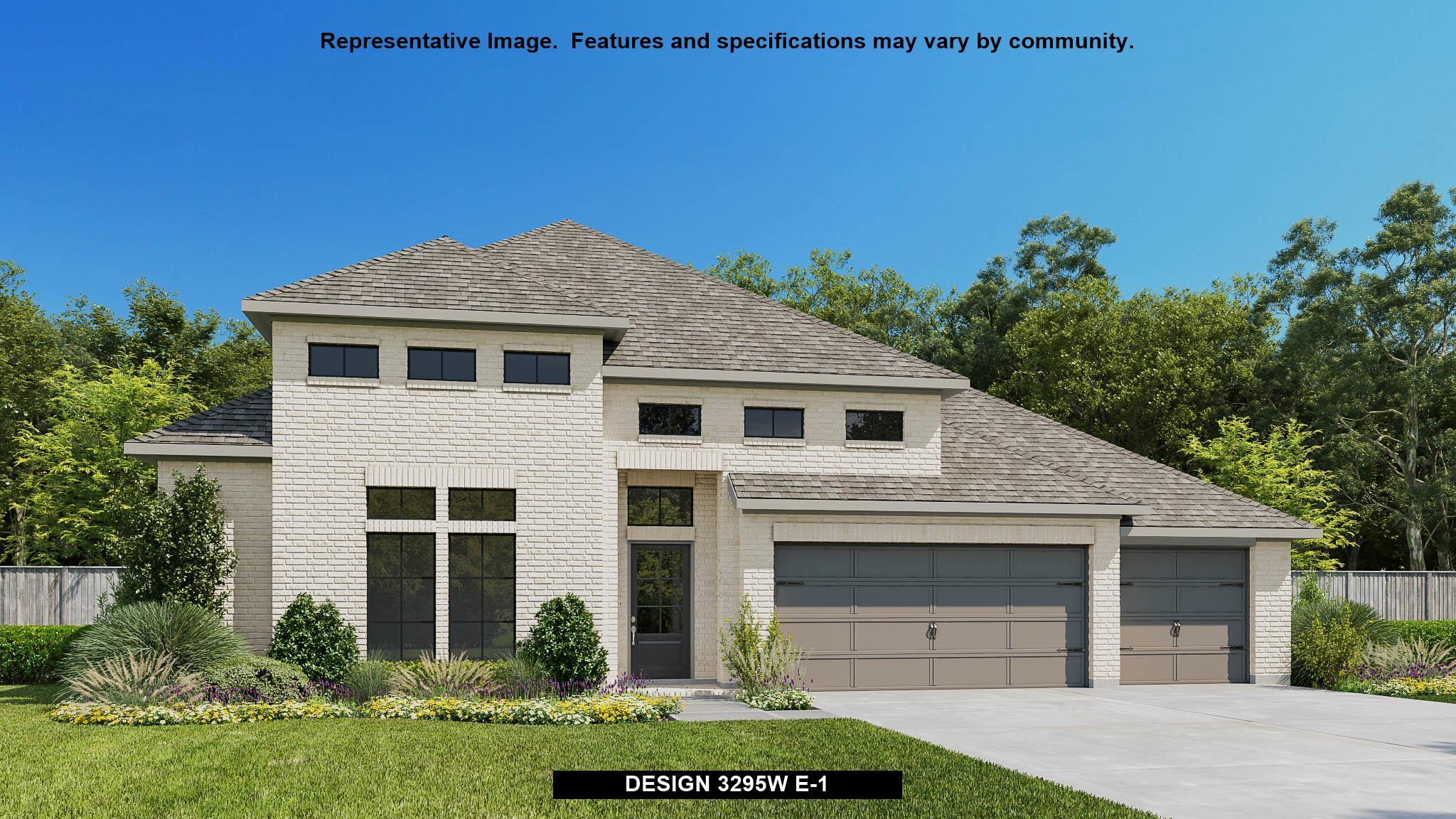 Exterior featured in the 3295W By Perry Homes in Houston, TX