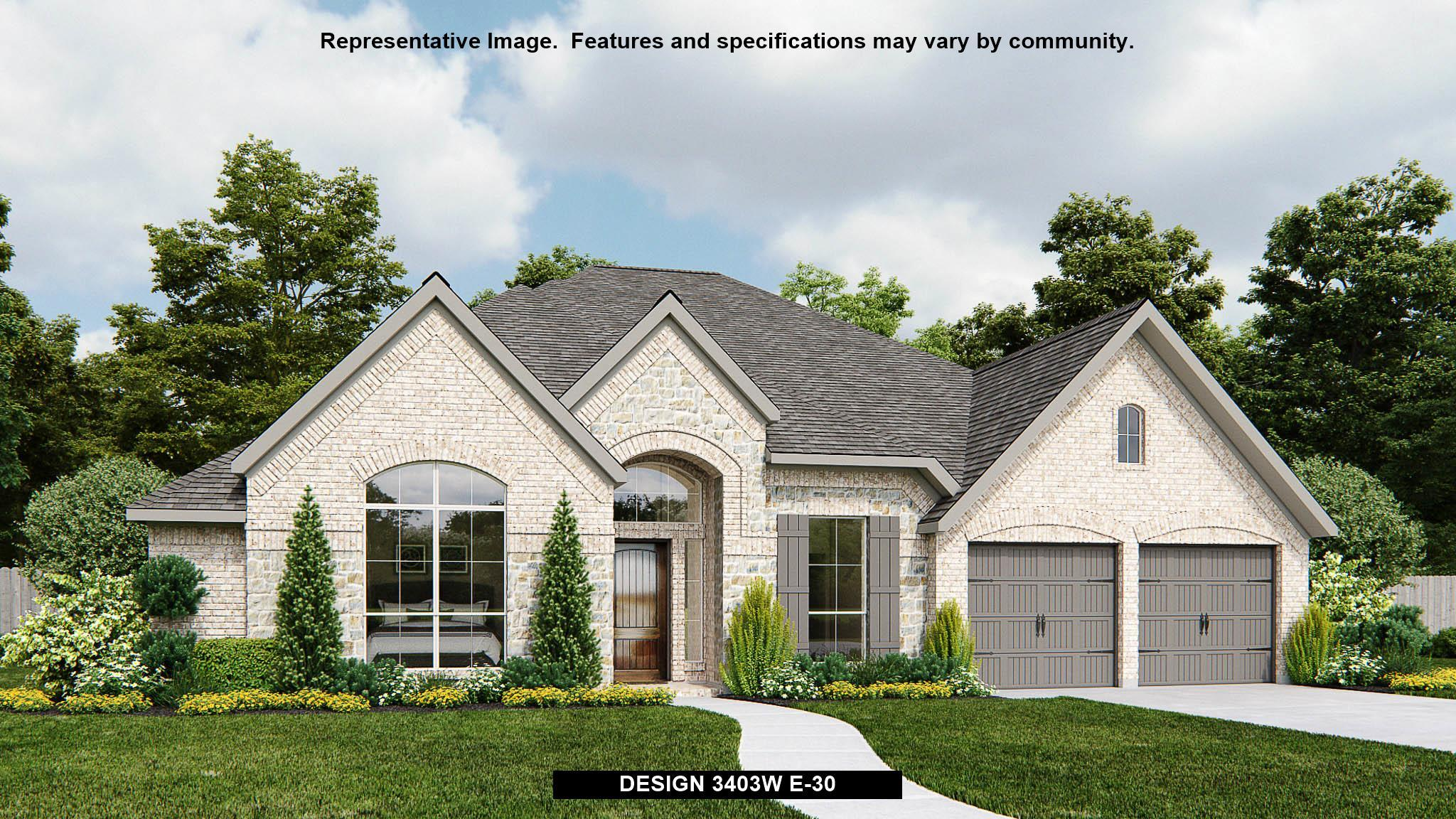 Exterior featured in the 3403W By Perry Homes in Houston, TX