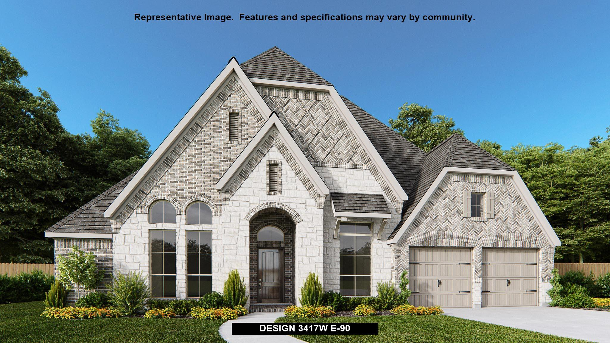 Exterior featured in the 3417W By Perry Homes in Houston, TX
