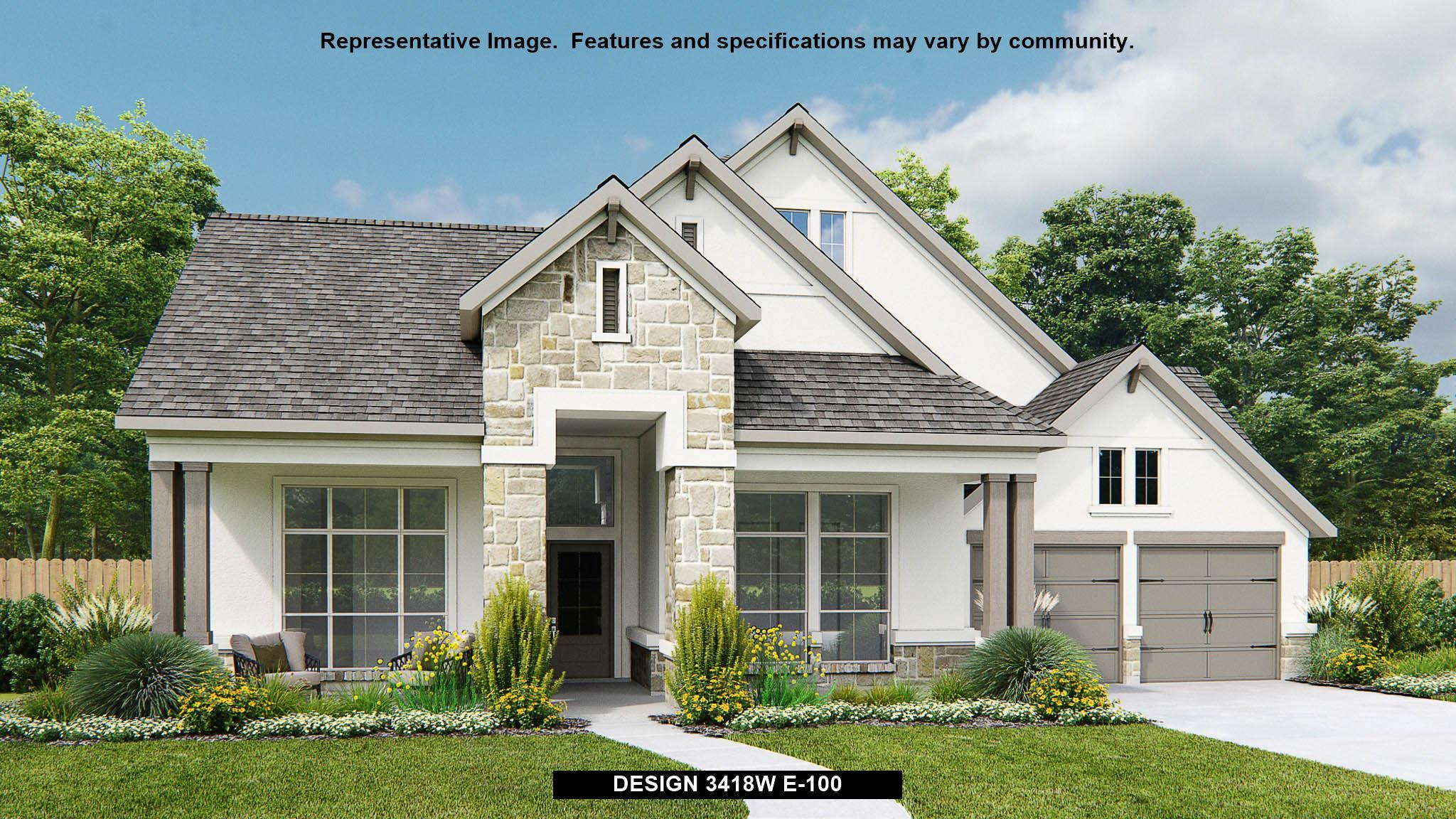 Exterior featured in the 3418W By Perry Homes in Houston, TX