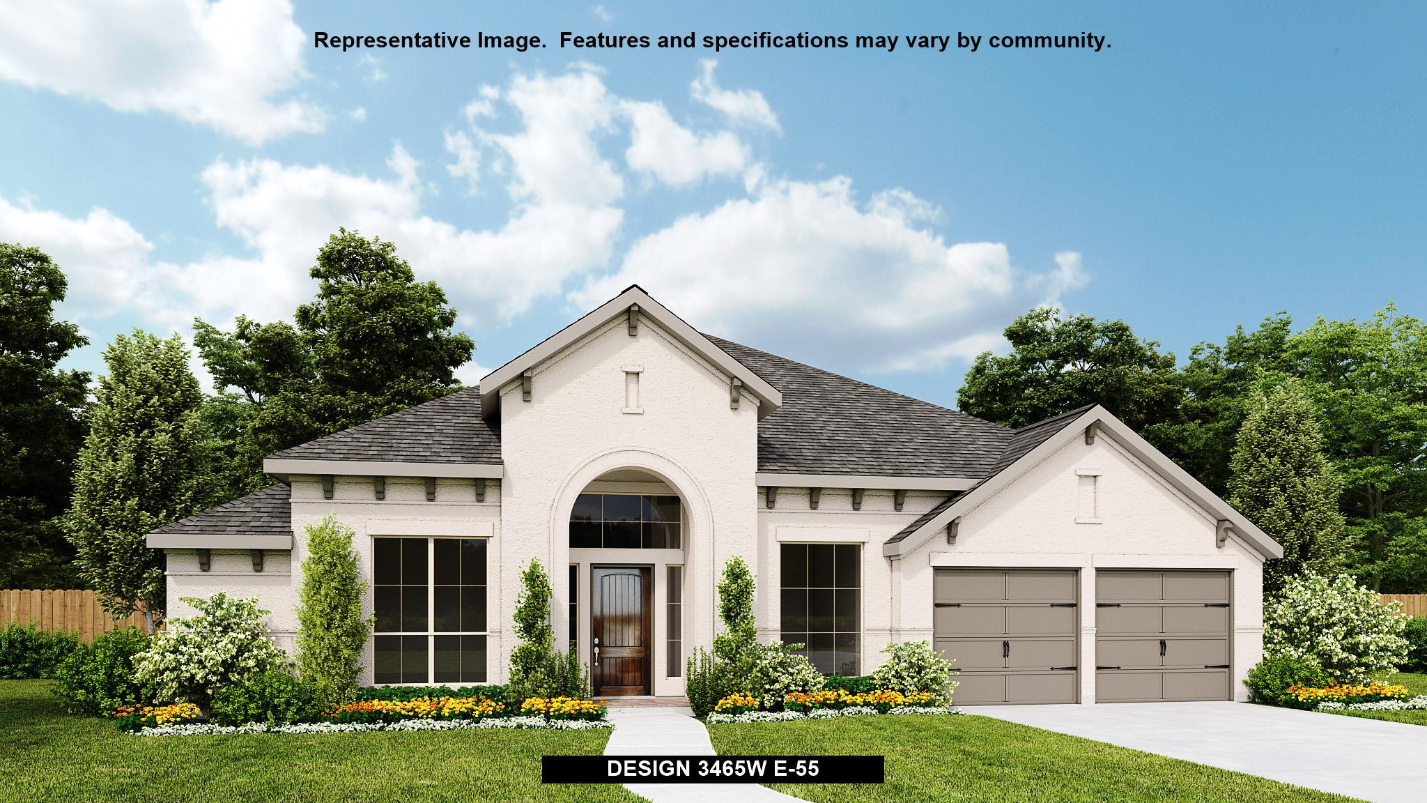 Exterior featured in the 3465W By Perry Homes in San Antonio, TX