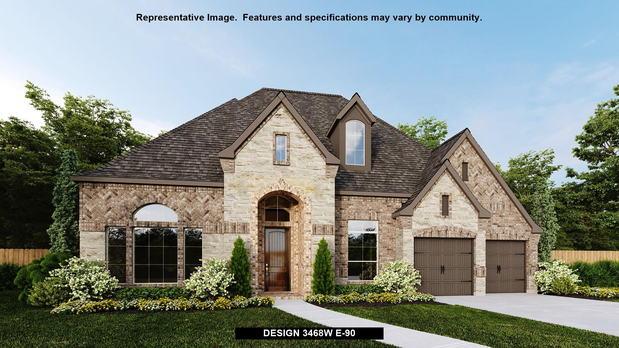 Exterior featured in the 3468W By Perry Homes in Houston, TX