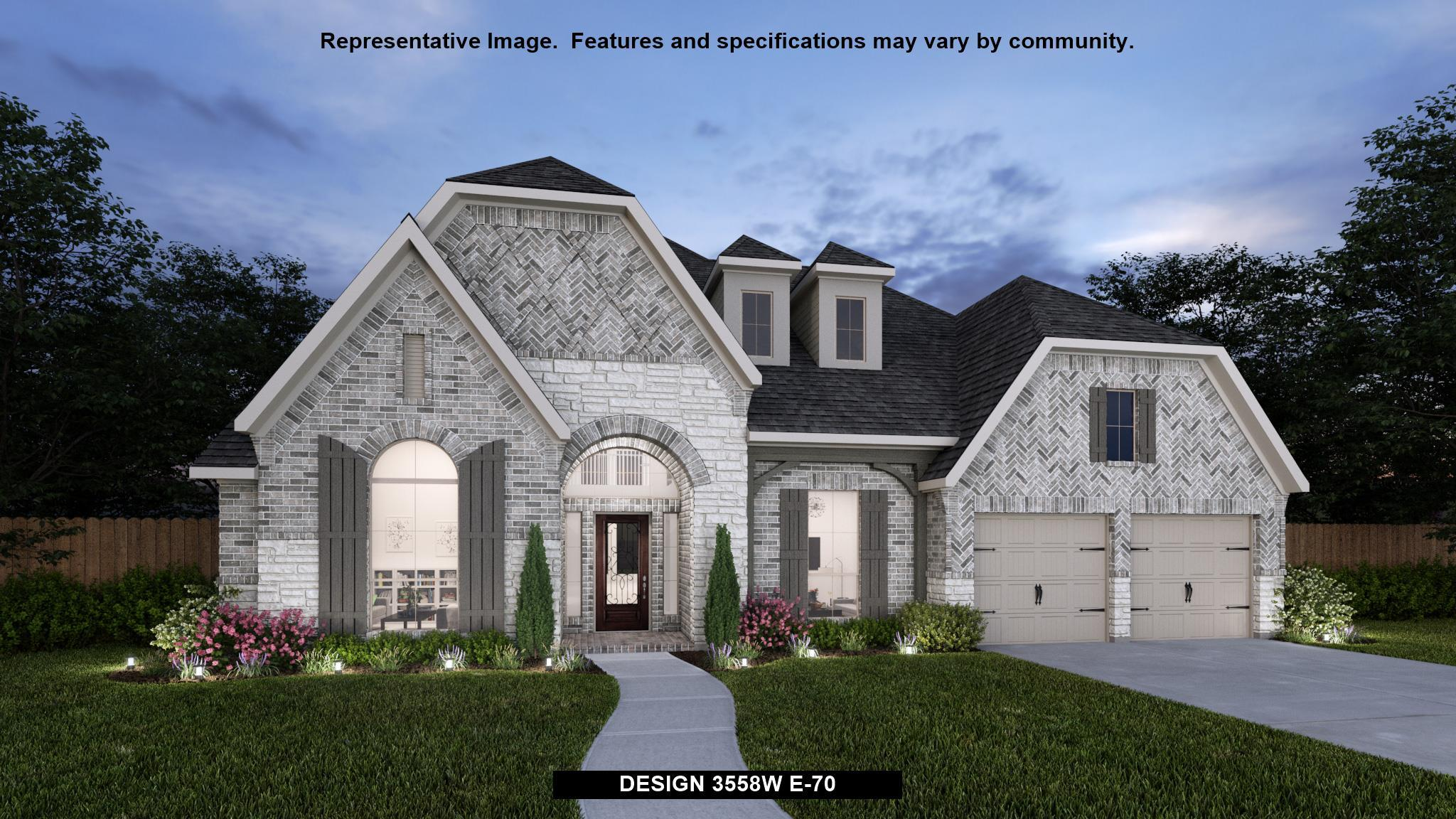 Exterior featured in the 3558W By Perry Homes in Houston, TX