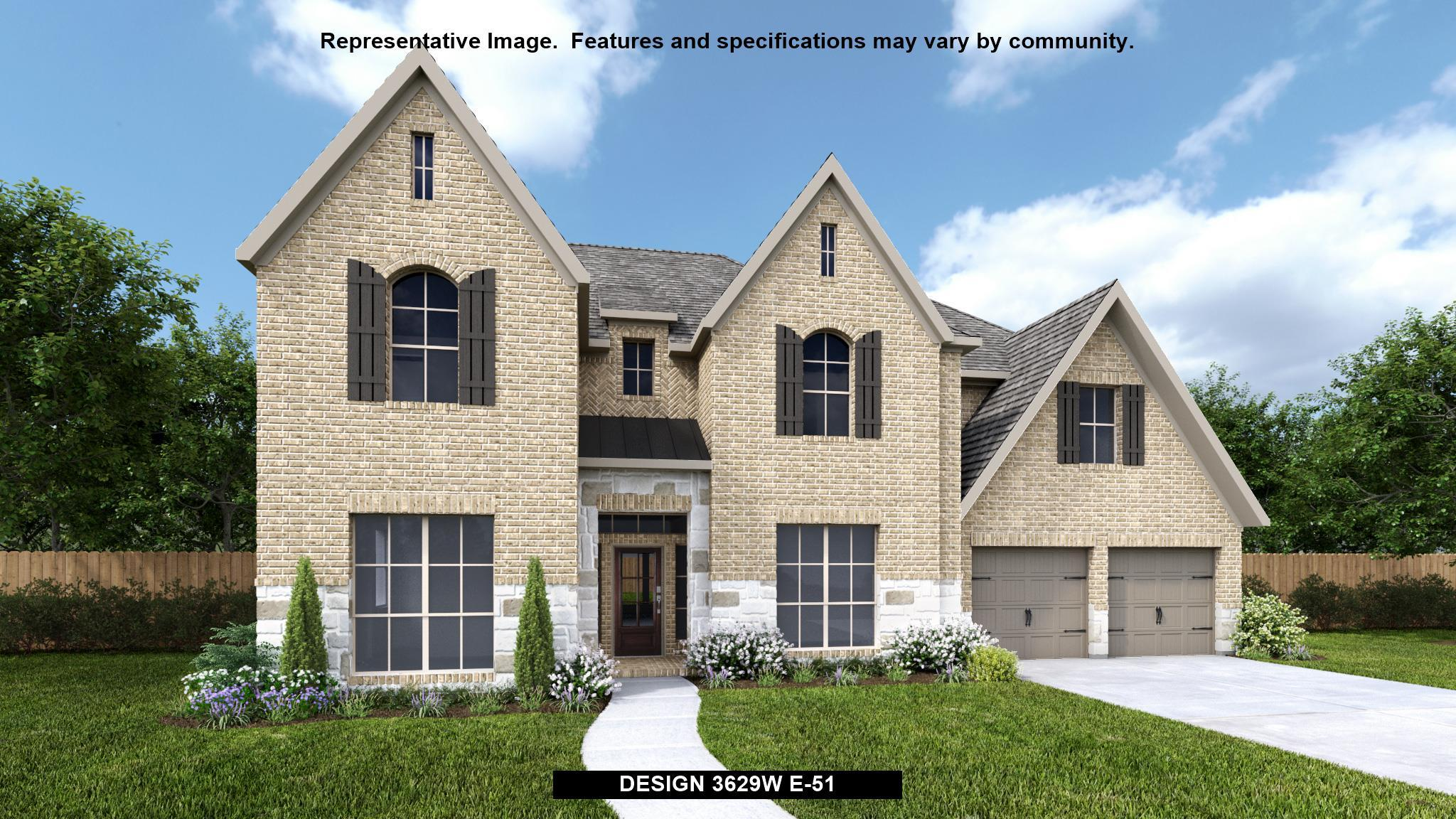 Exterior featured in the 3629W By Perry Homes in Houston, TX