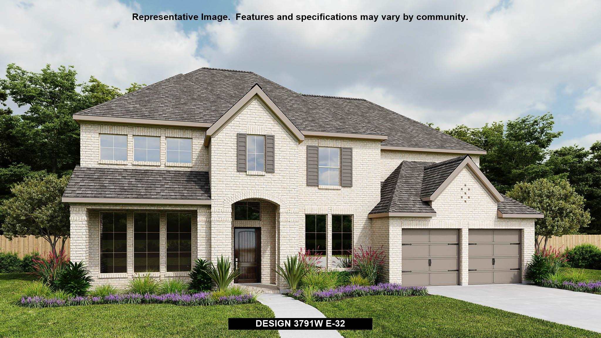 Exterior featured in the 3791W By Perry Homes in Houston, TX