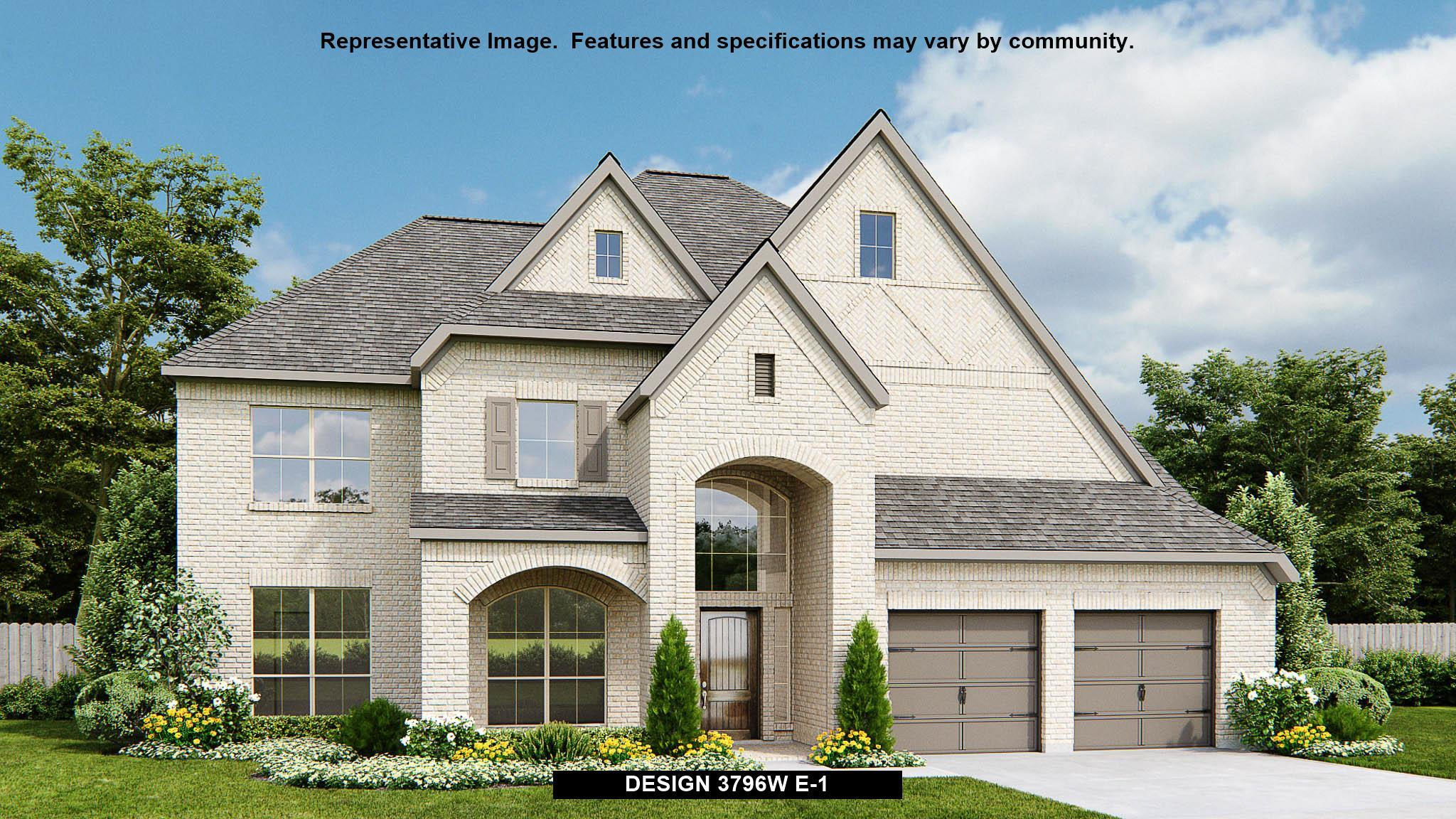 Exterior featured in the 3796W By Perry Homes in Houston, TX