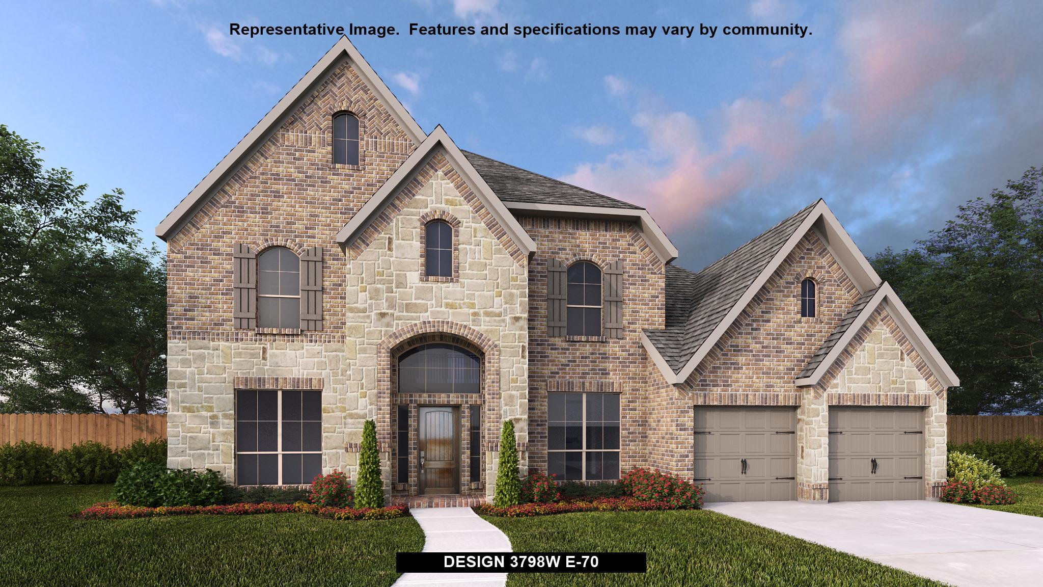 Exterior featured in the 3798W By Perry Homes in Houston, TX