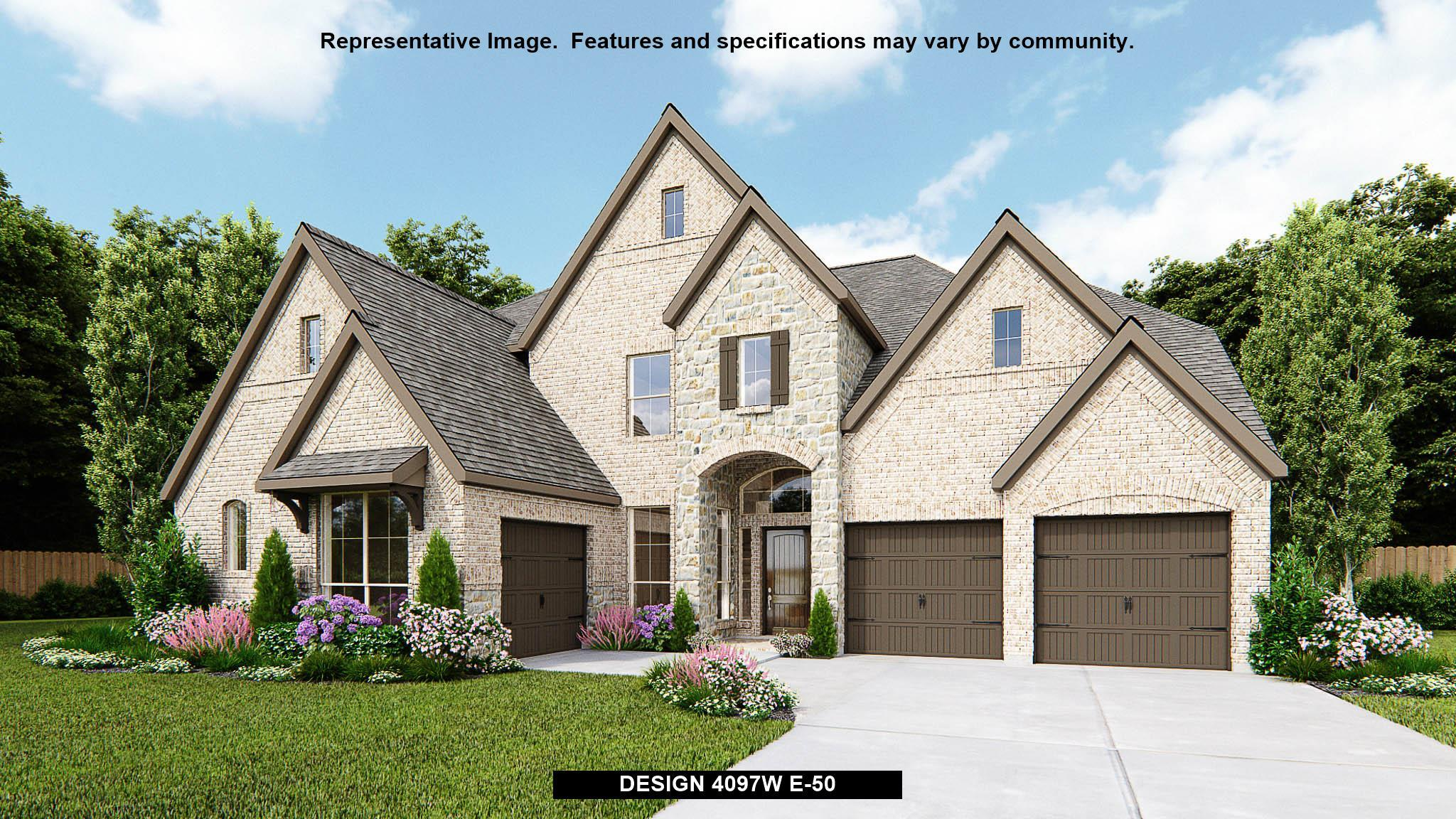 Exterior featured in the 4097W By Perry Homes in Houston, TX