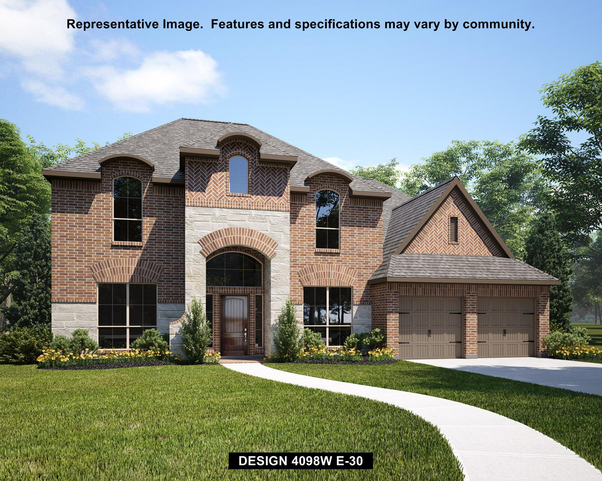 Exterior featured in the 4098W By Perry Homes in Houston, TX