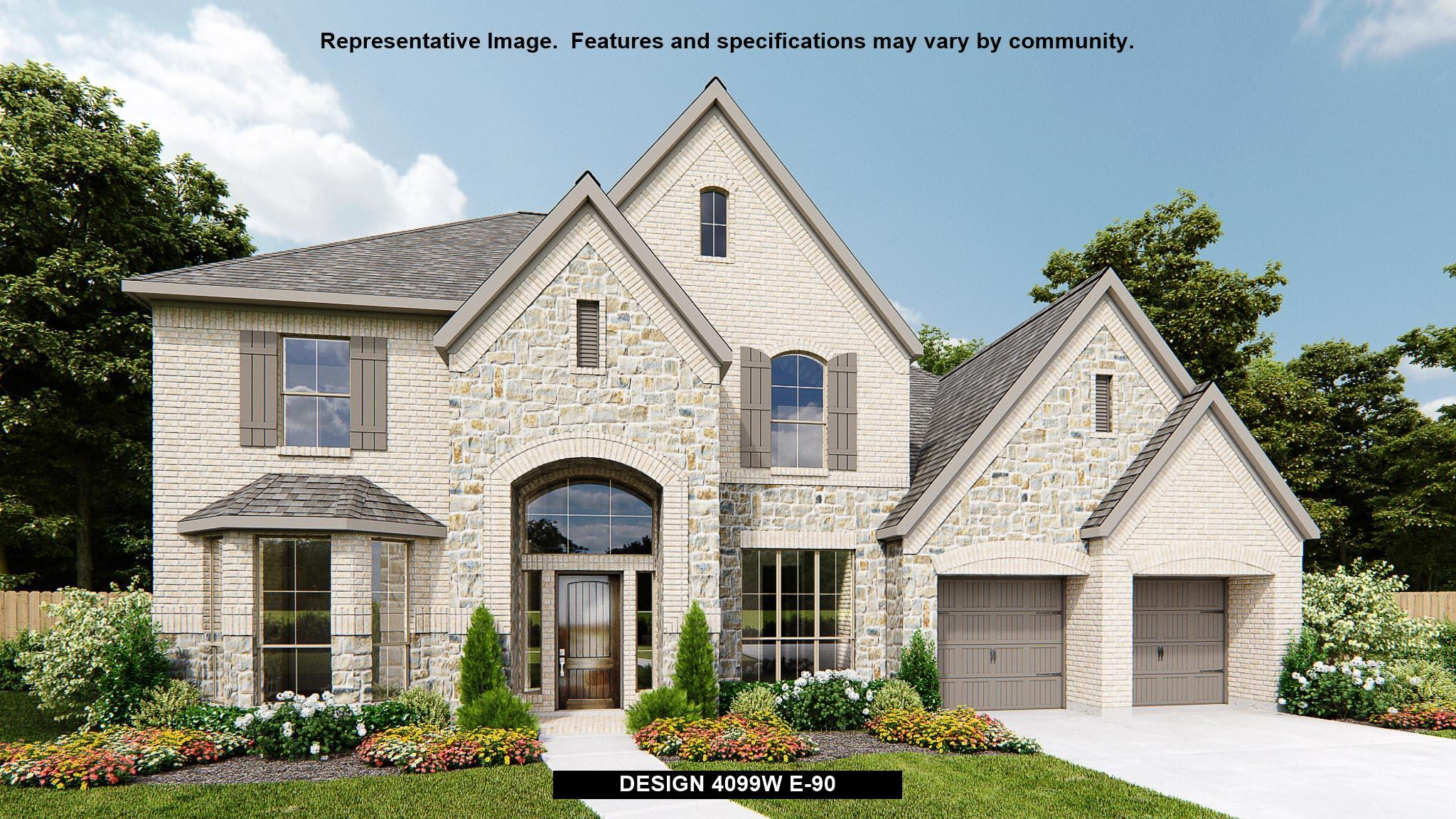 Exterior featured in the 4099W By Perry Homes in Houston, TX